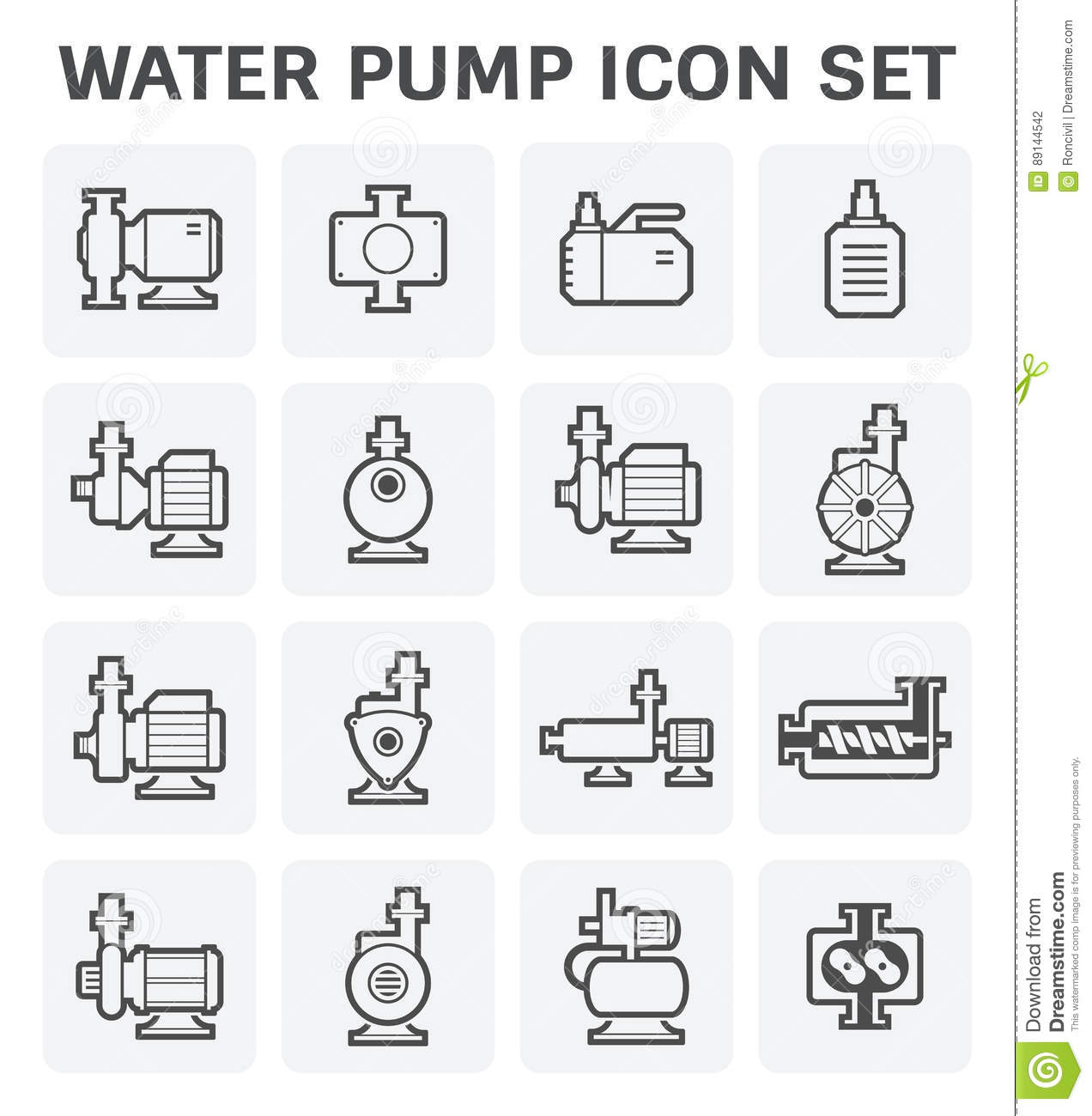 Water Pump Icon Stock Vector Illustration Of Equipment