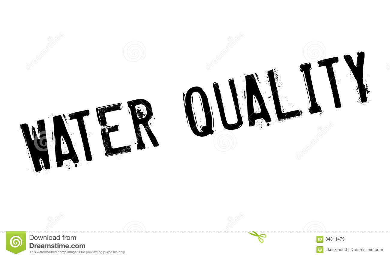 Water Quality Rubber Stamp Royalty Free Stock Photo