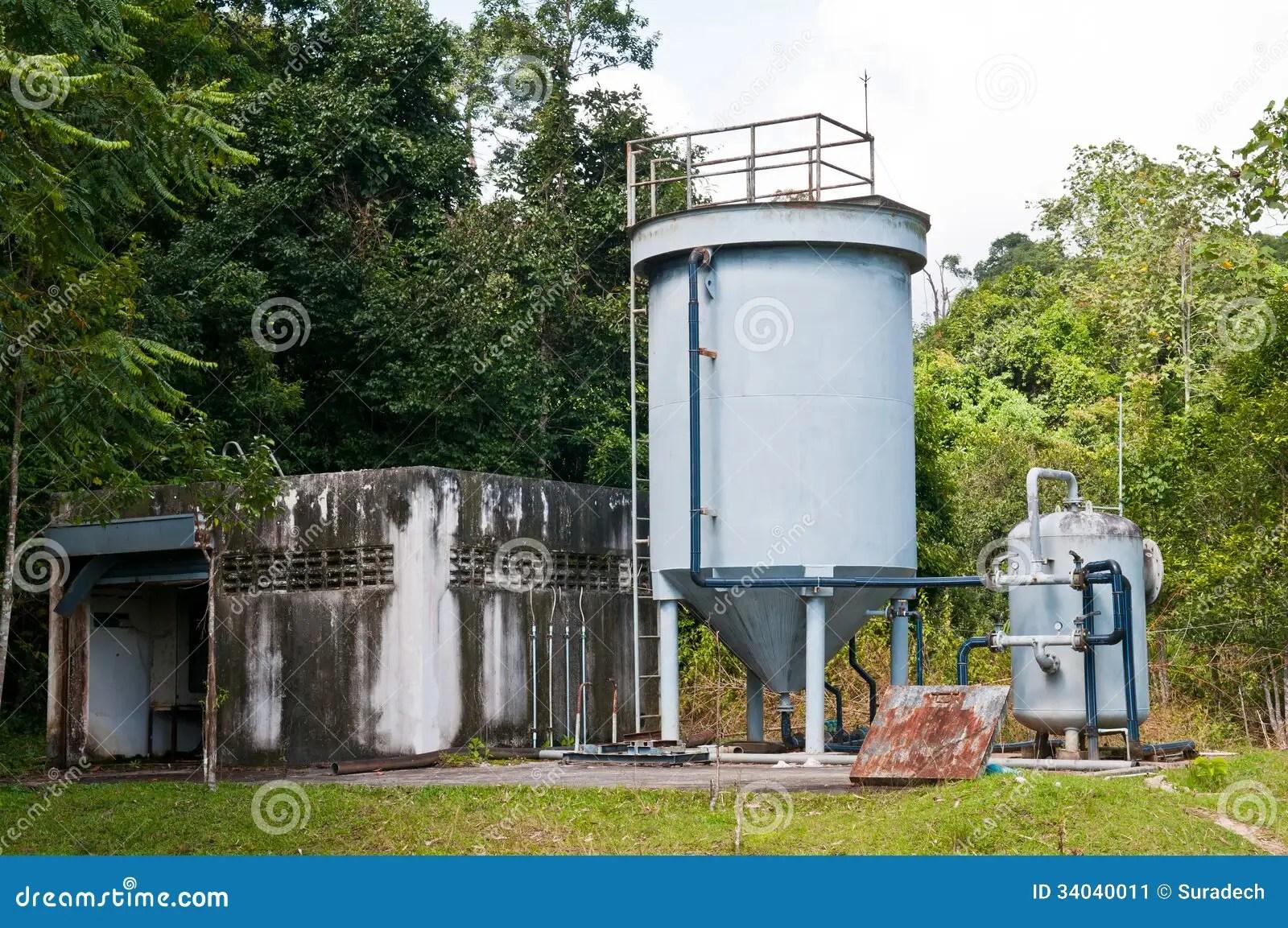 Water Storage Tank Stock Image