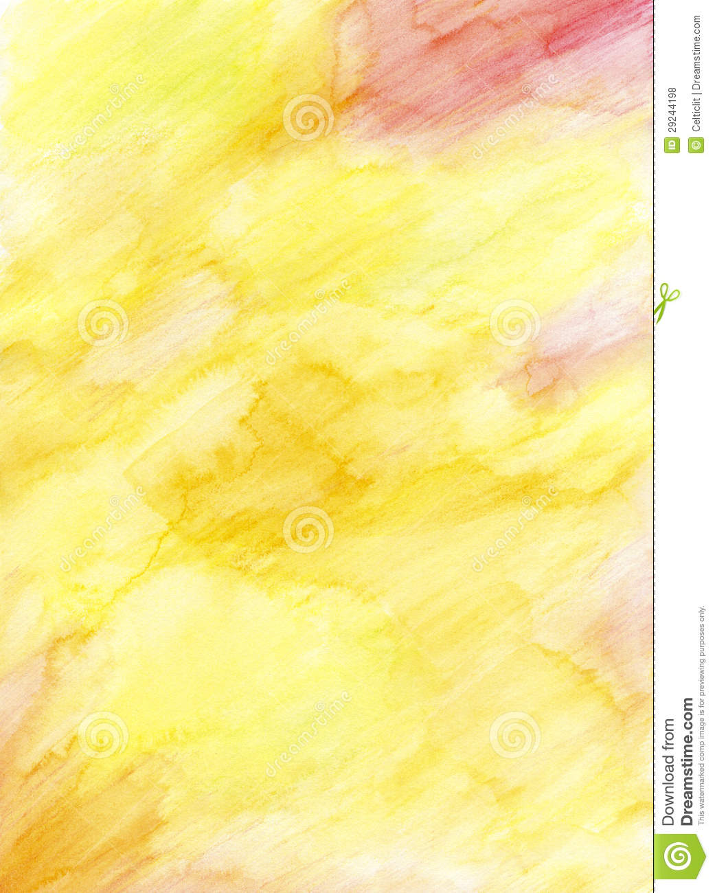 Watercolor Pencil Hand Painted Background Royalty Free Stock Photos