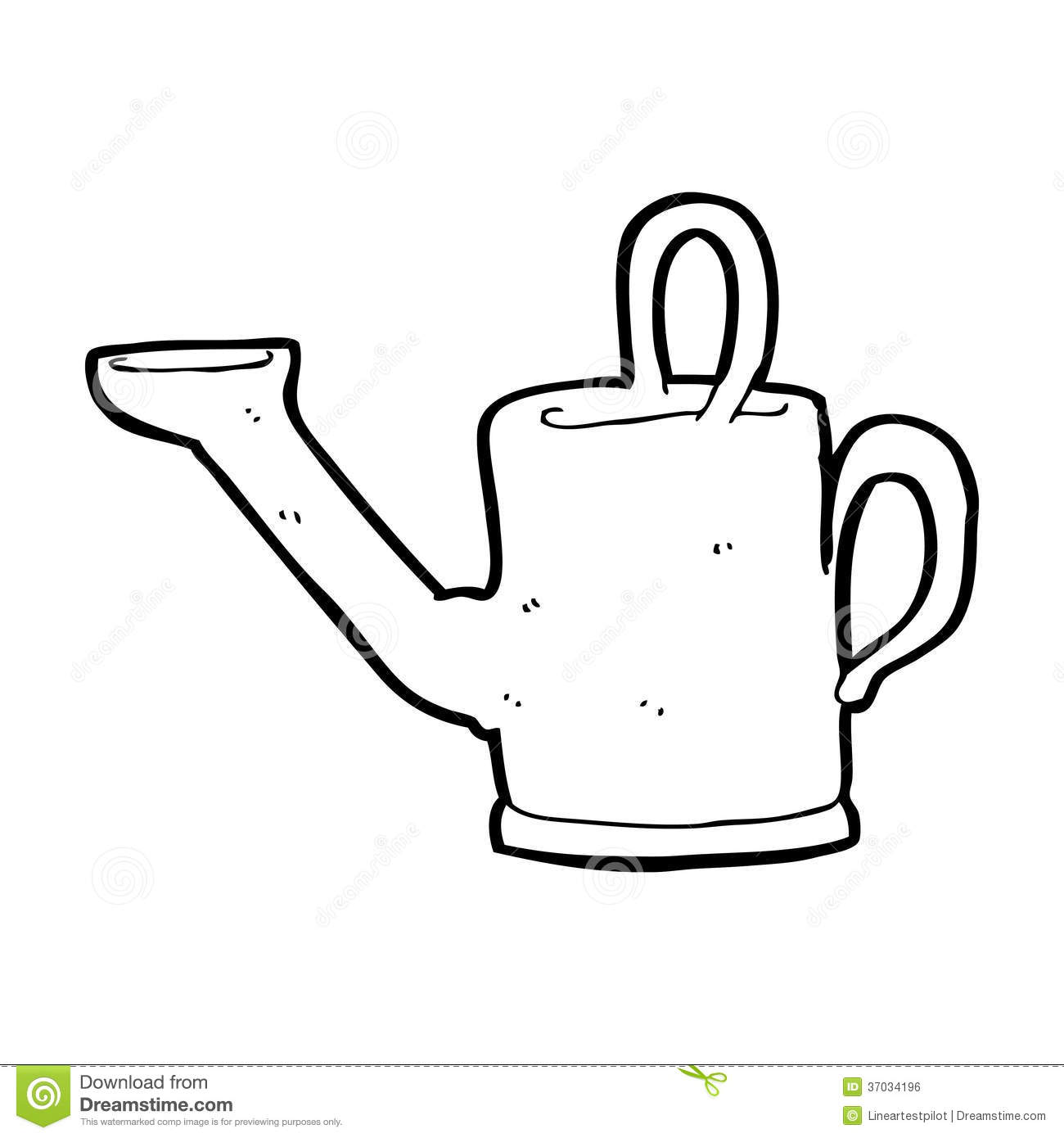 Watering Can Cartoon Royalty Free Stock Image