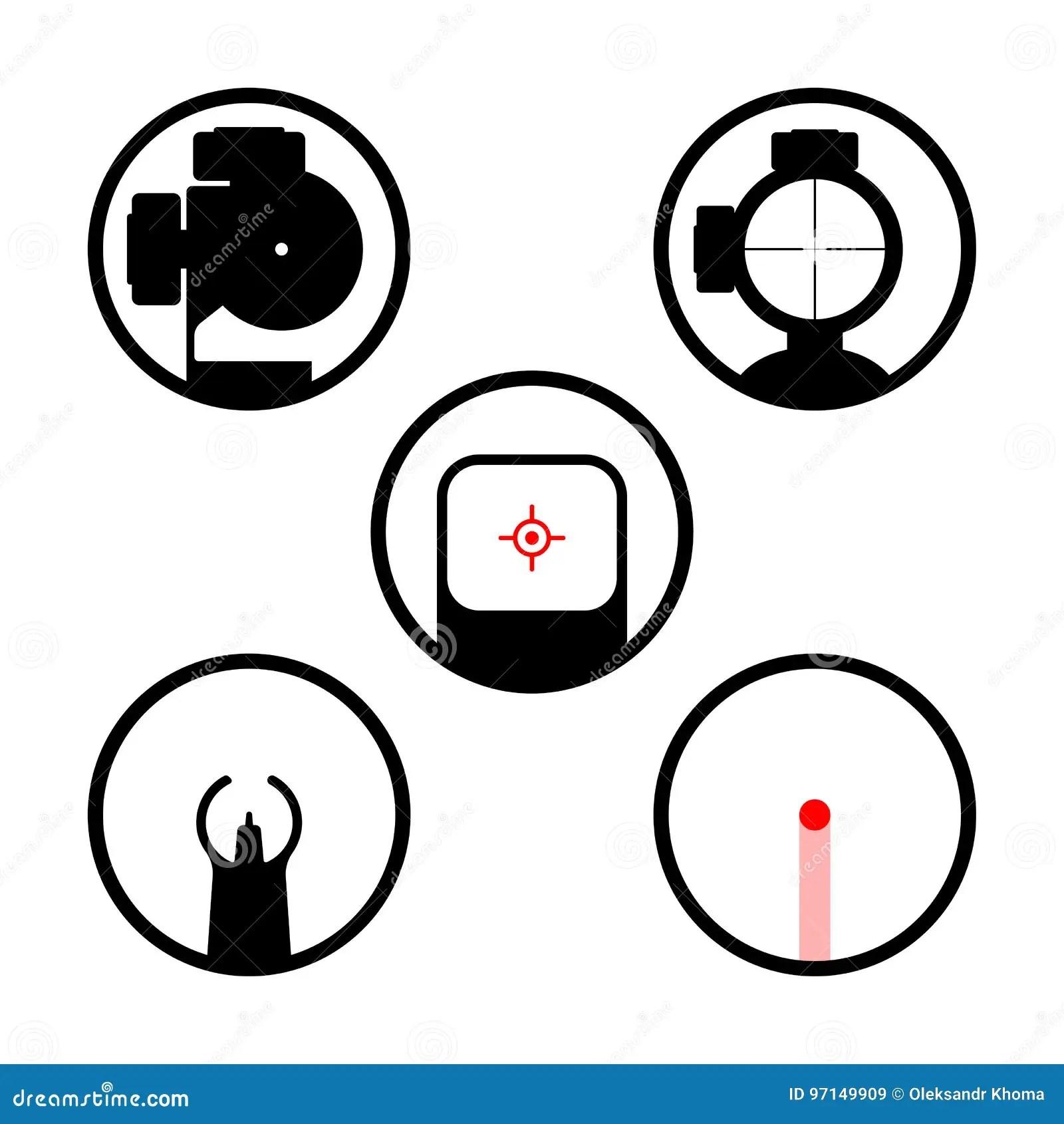 Laser Gun Icons Set Stock Illustrations 59 Laser Gun