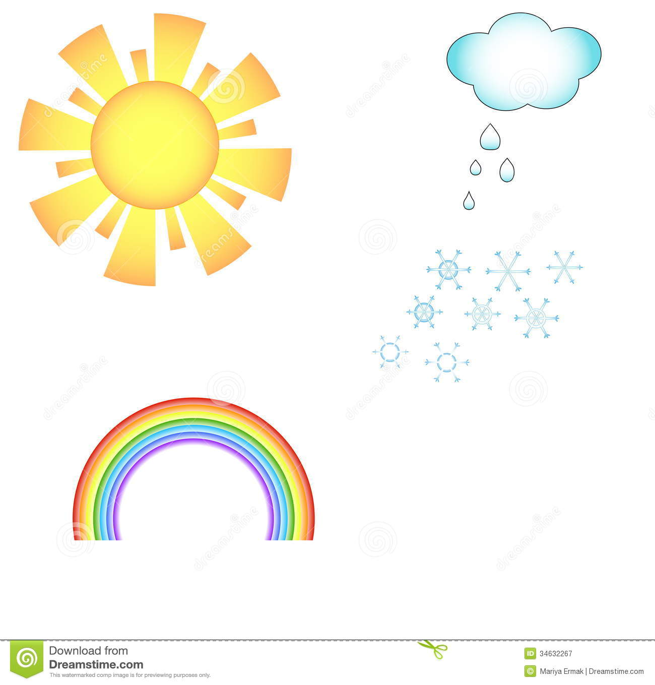 Weather Icons Stock Vector Illustration Of Rain Cold