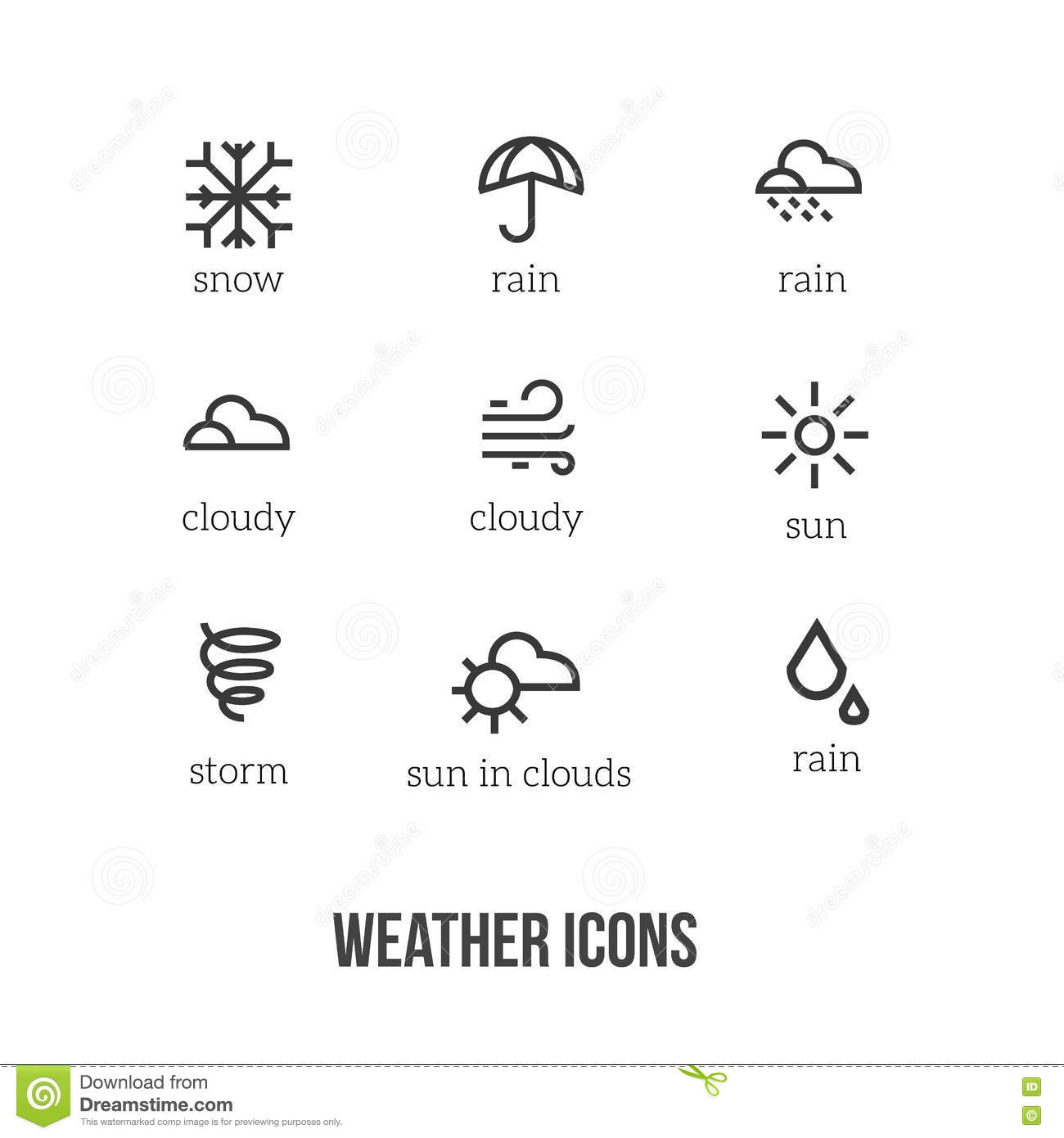 Worksheet Weather Symbols