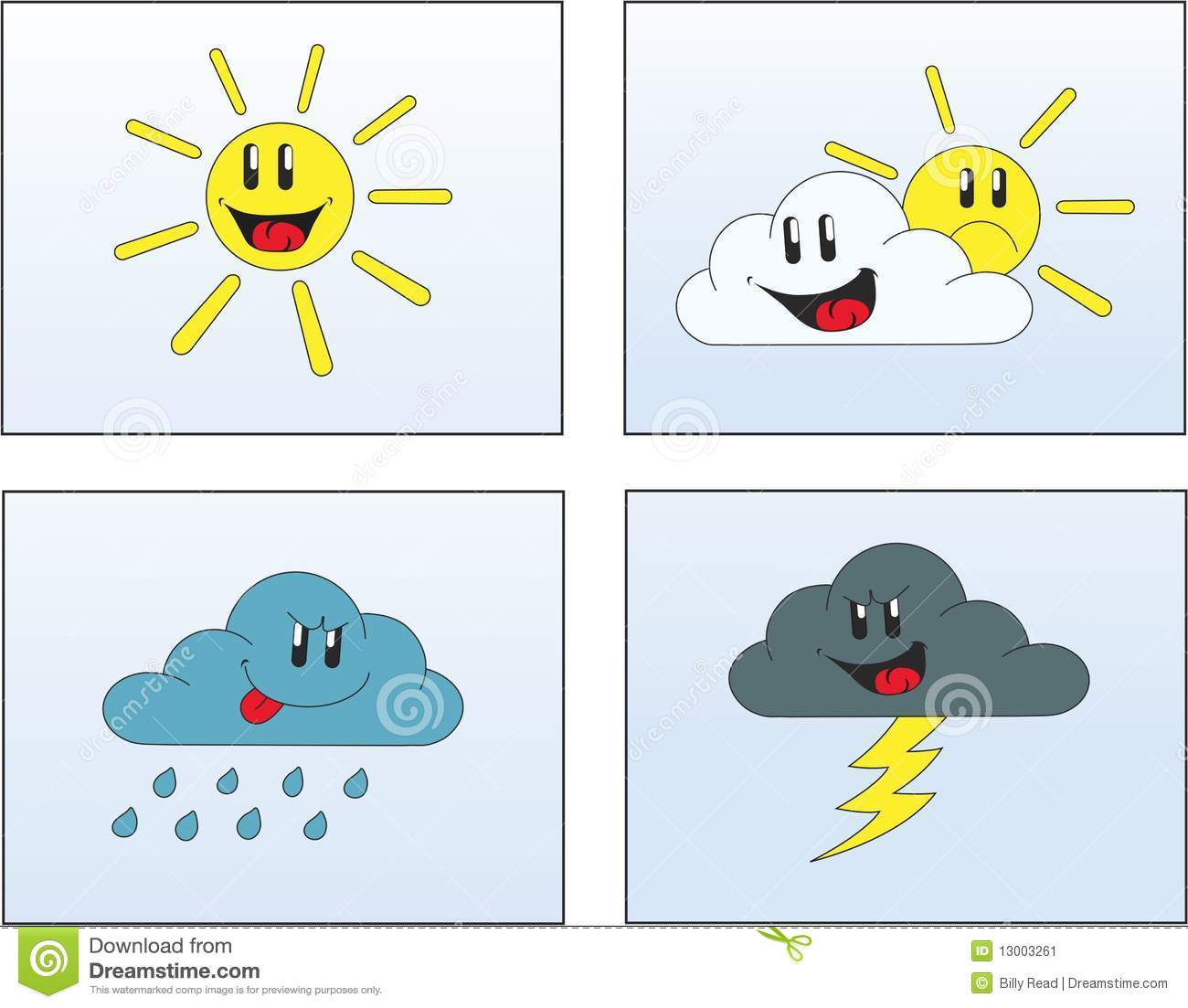 Weather Pictures 1 Stock Vector Illustration Of Clouds