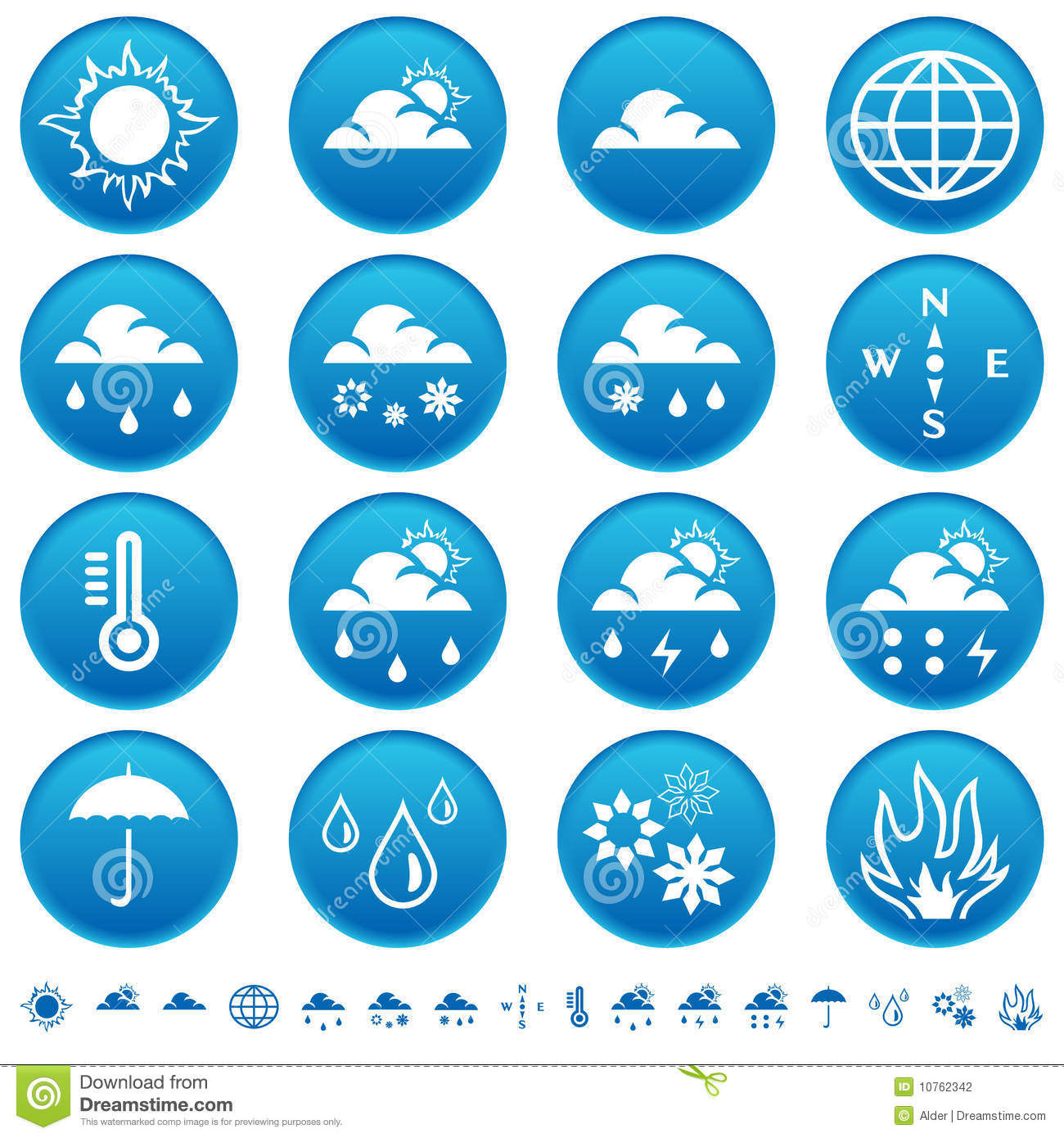 Weather Symbols Stock Vector Illustration Of Buttons