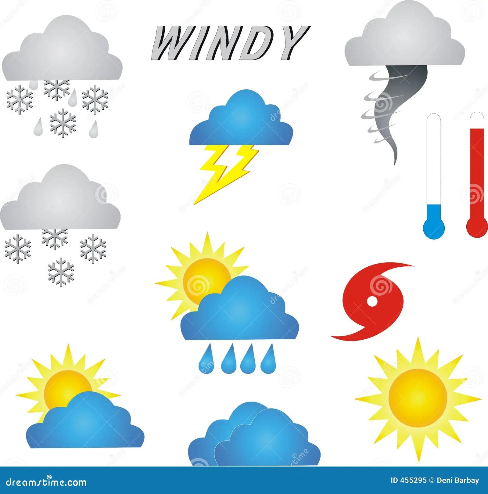 Weather Symbols Stock Illustration Illustration Of
