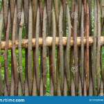 Weaving From Willow Branches Fence From Tree Branches Stock Photo Image Of Macrame Material 131220140