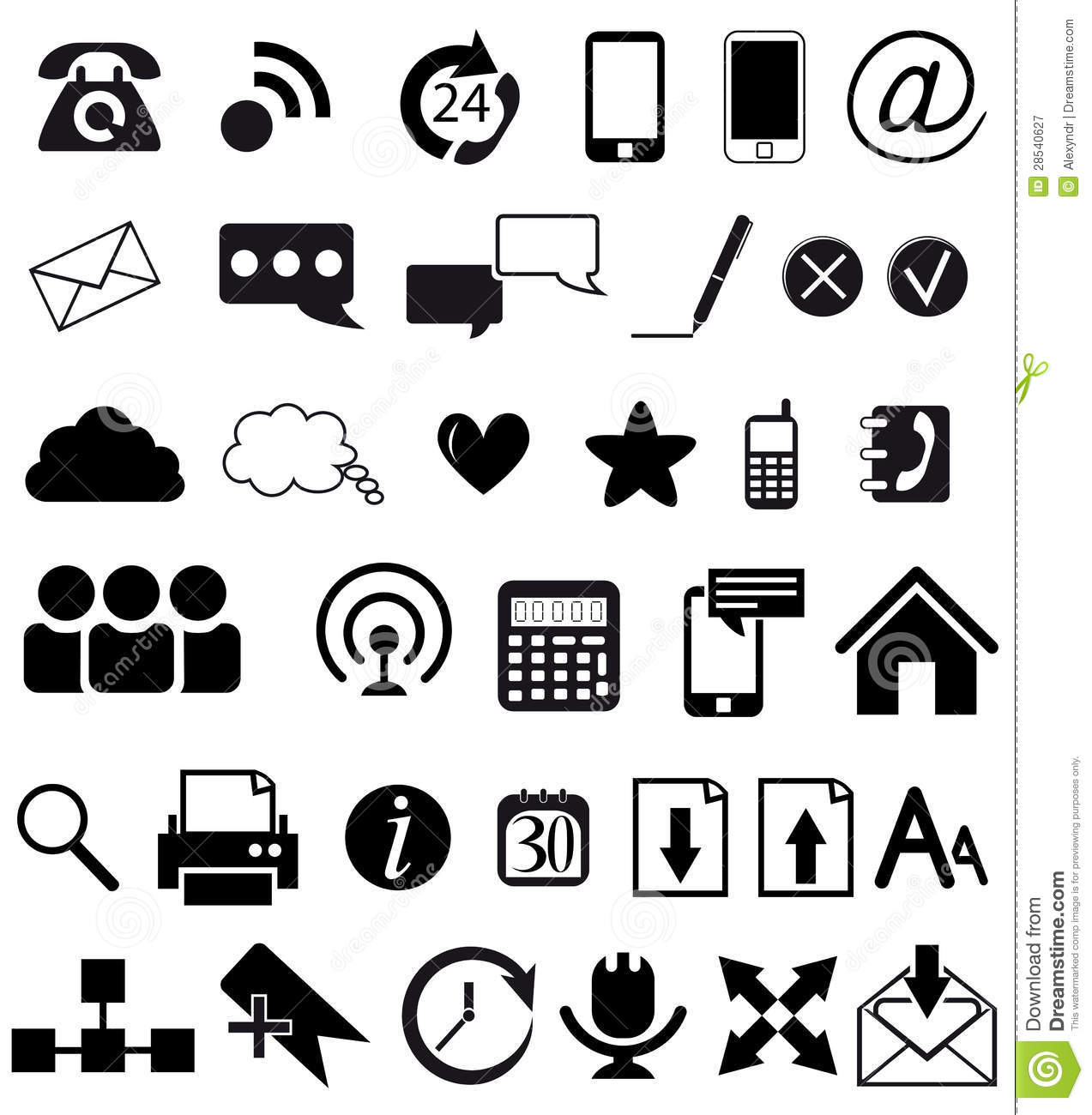 Web And Communication Icons Stock Vector