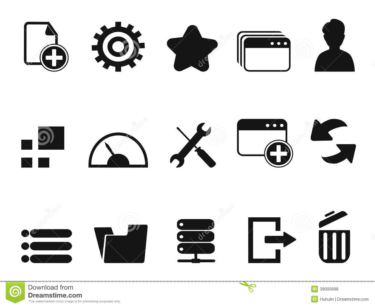 Web Dashboard Icons Set Stock Vector Illustration Of Icon