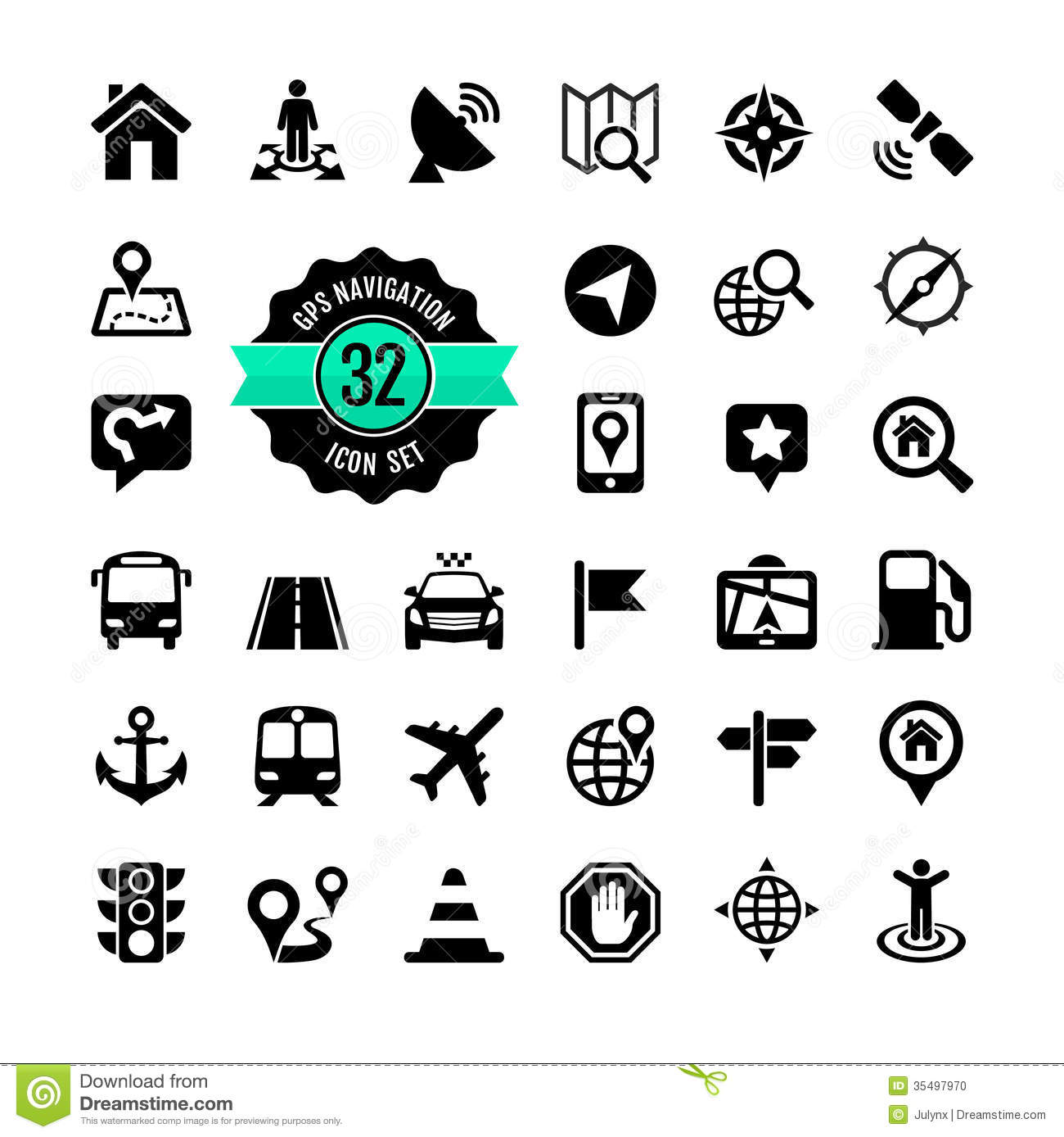 Web Icon Set Location Stock Vector Illustration Of Light