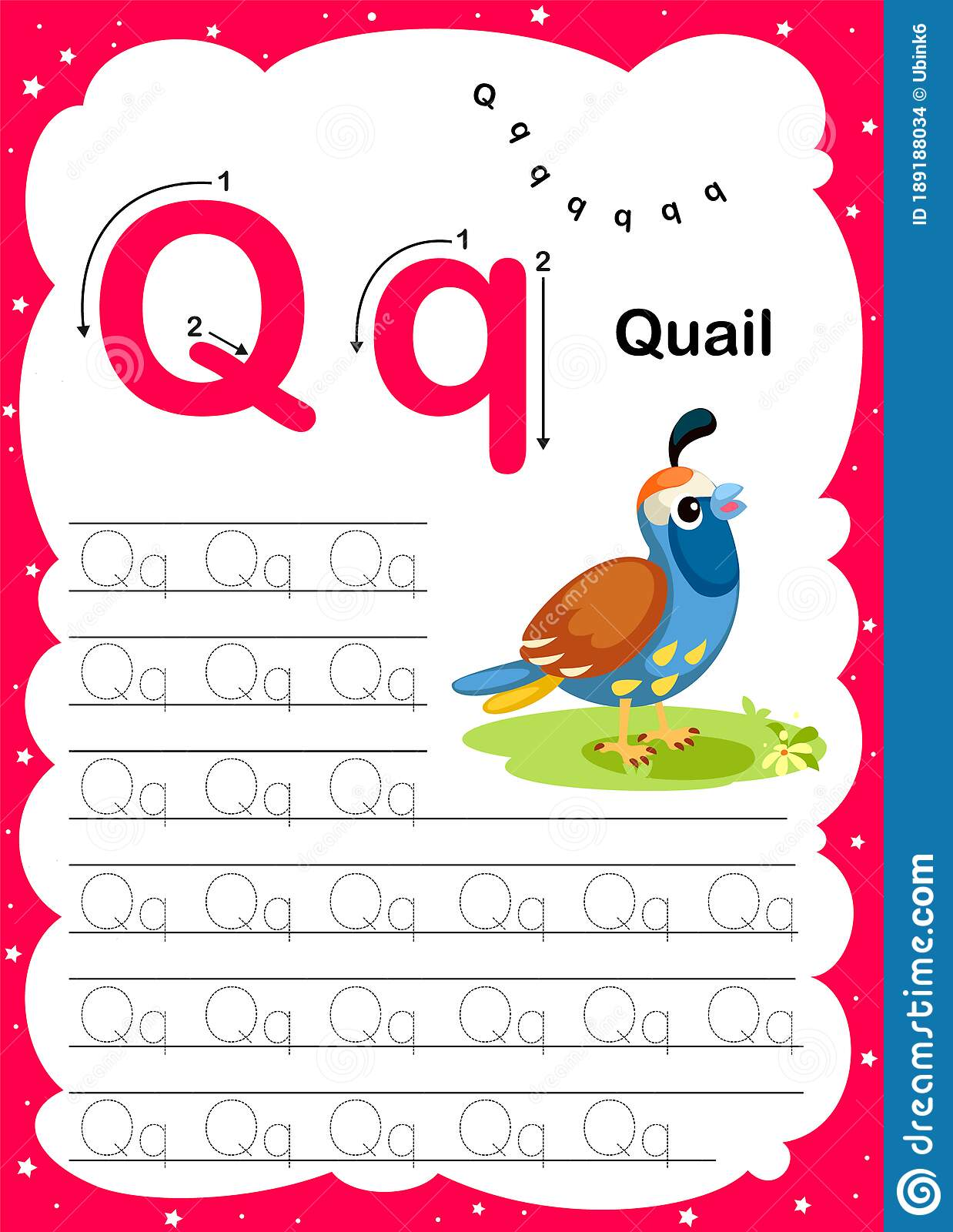 Webcolorful Letter Q Uppercase And Lowercase Alphabet A Z