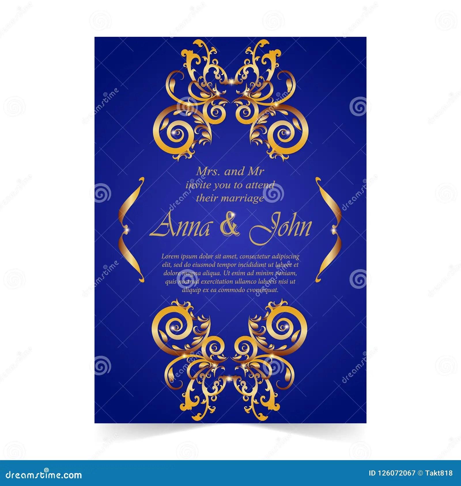 https www dreamstime com wedding card invitation card ornamental royal blue back wedding card invitation card ornamental illustration royal image126072067