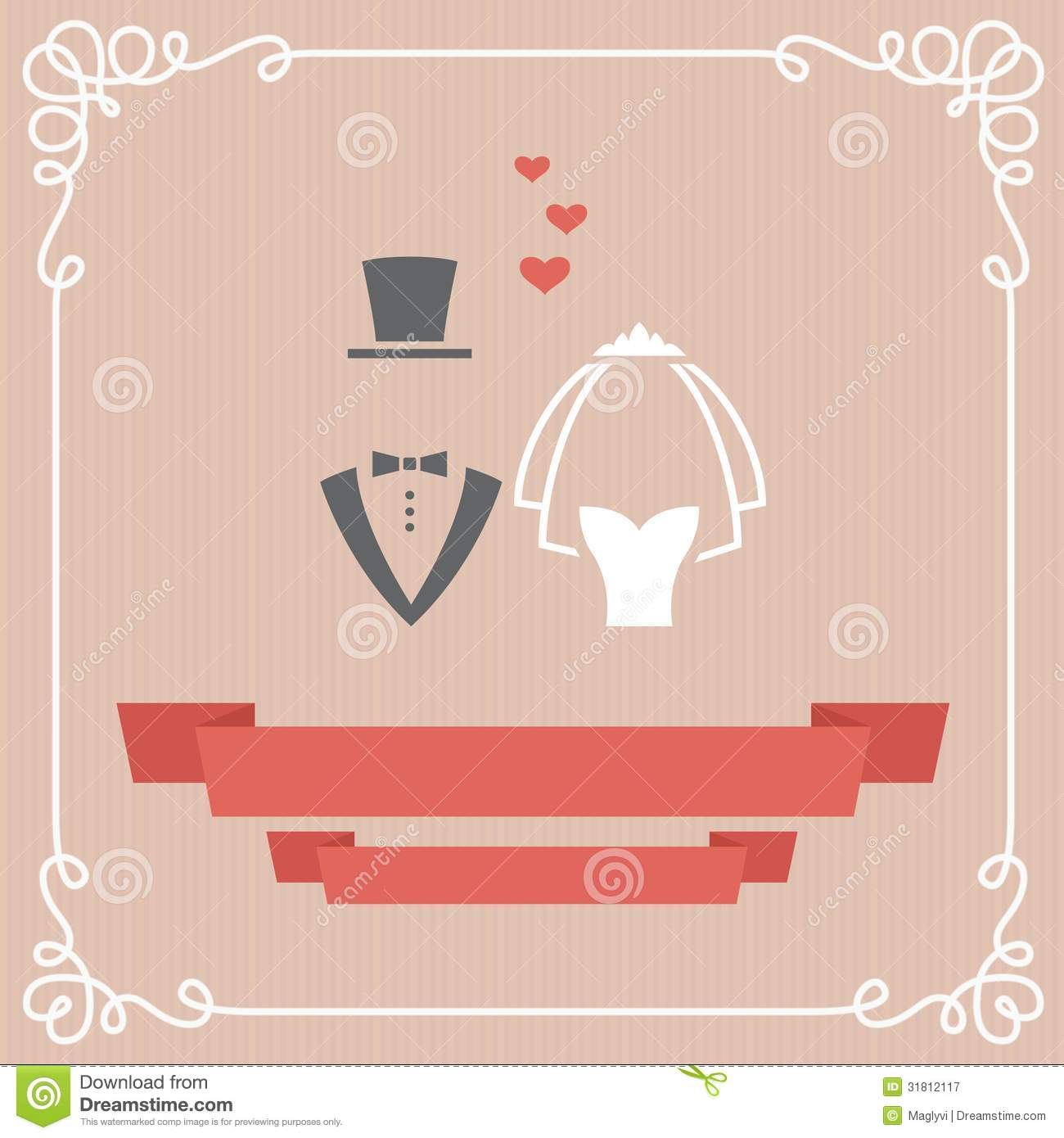 Wedding Card Royalty Free Stock Photography Image 31812117