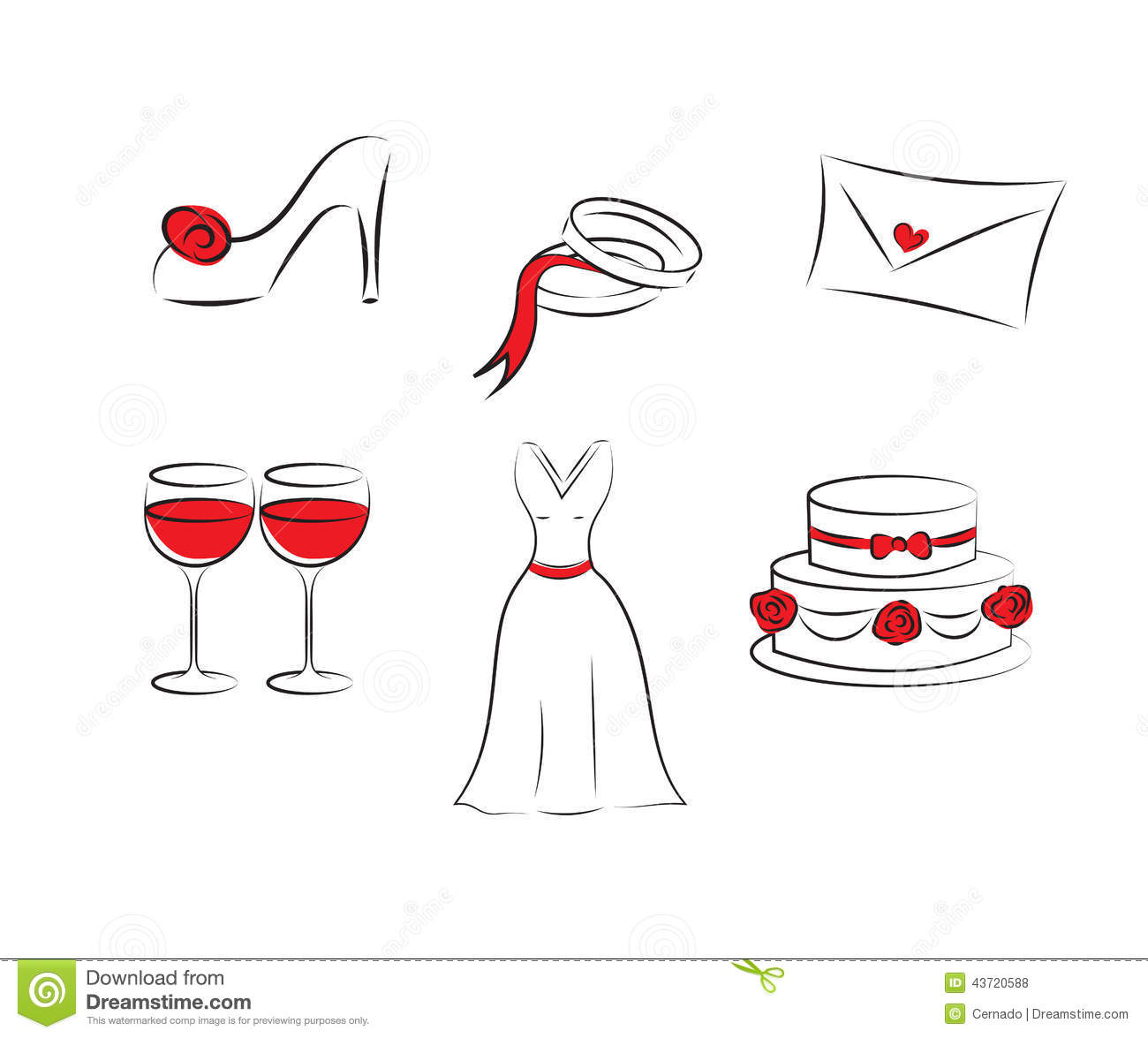 Wedding Clipart Stock Vector