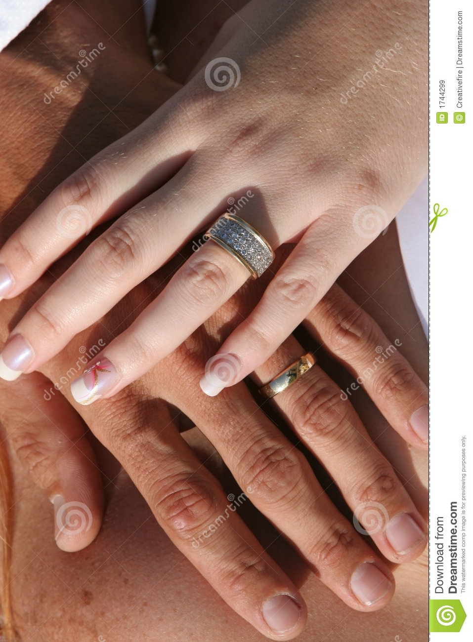 Wedding Couple Hands And Rings Stock Image Image 1744299