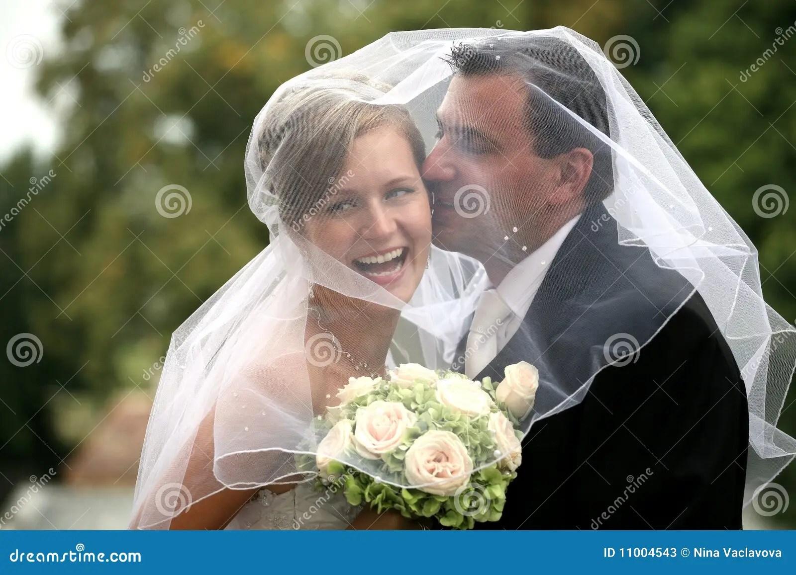 Wedding Couple Kissing Stock Image Image Of Hugging