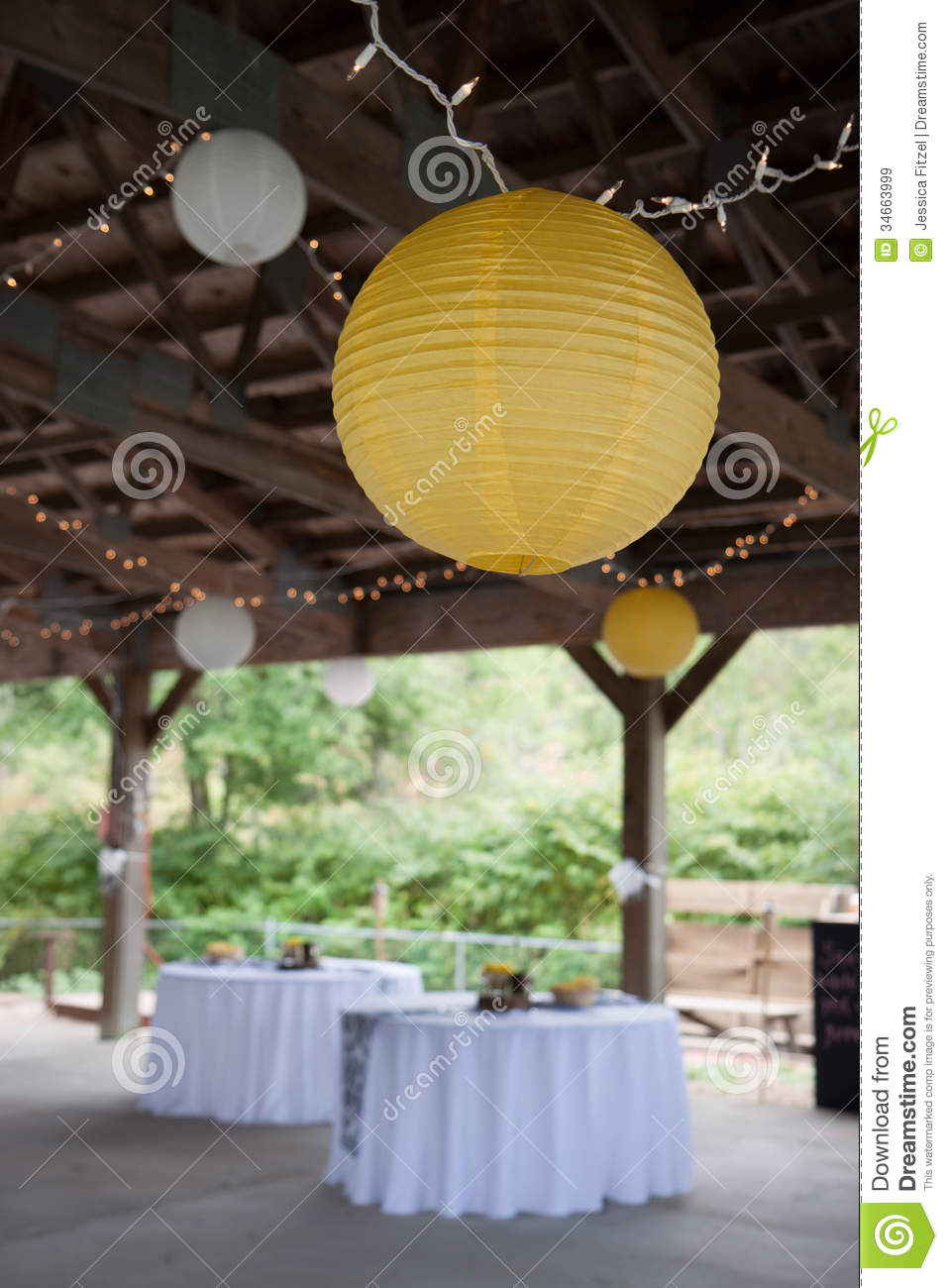 Wedding Decorations Stock Image Image Of Lights Wedding