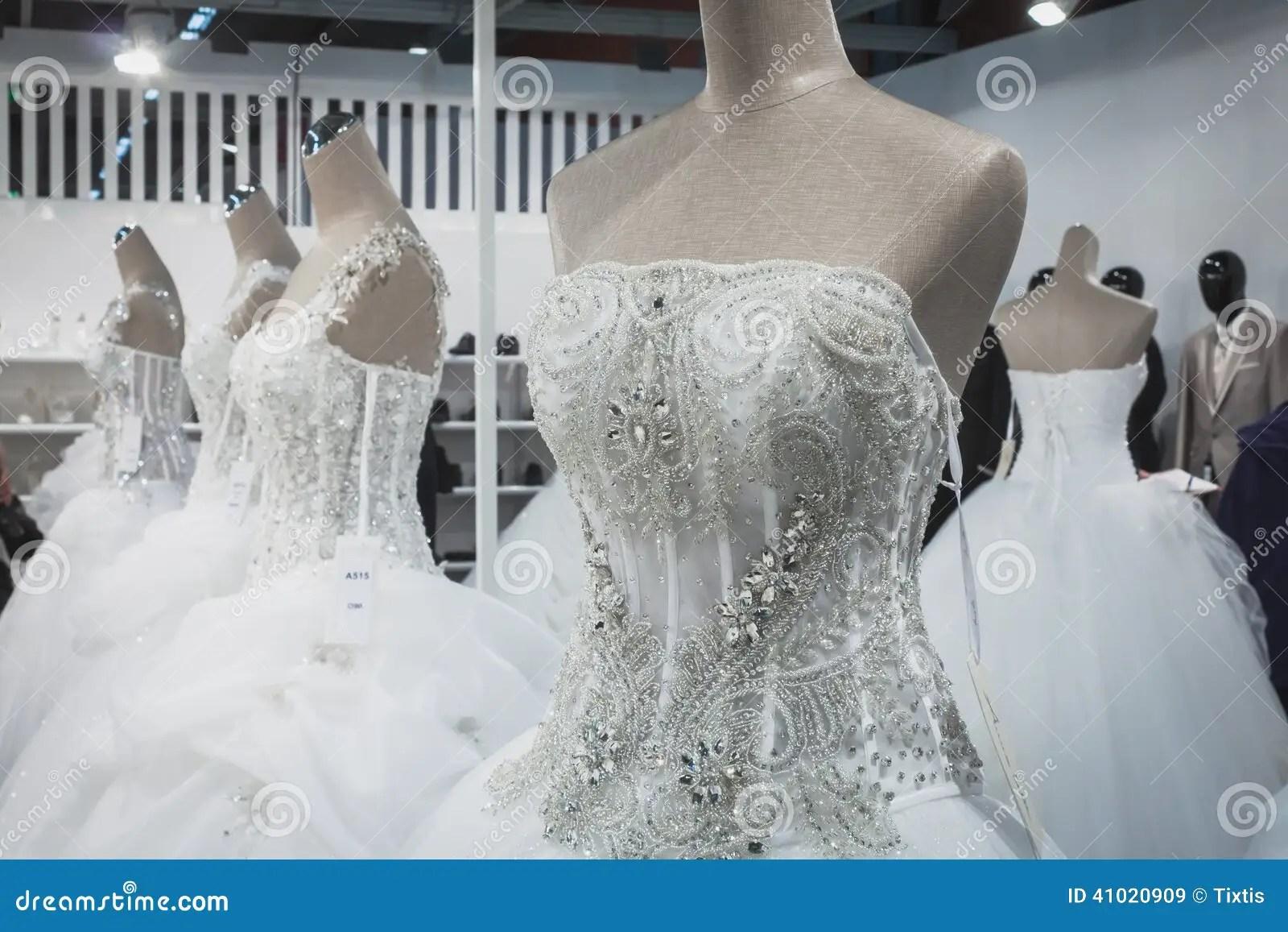 Wedding Dresses On Display At Si' Sposaitalia In Milan
