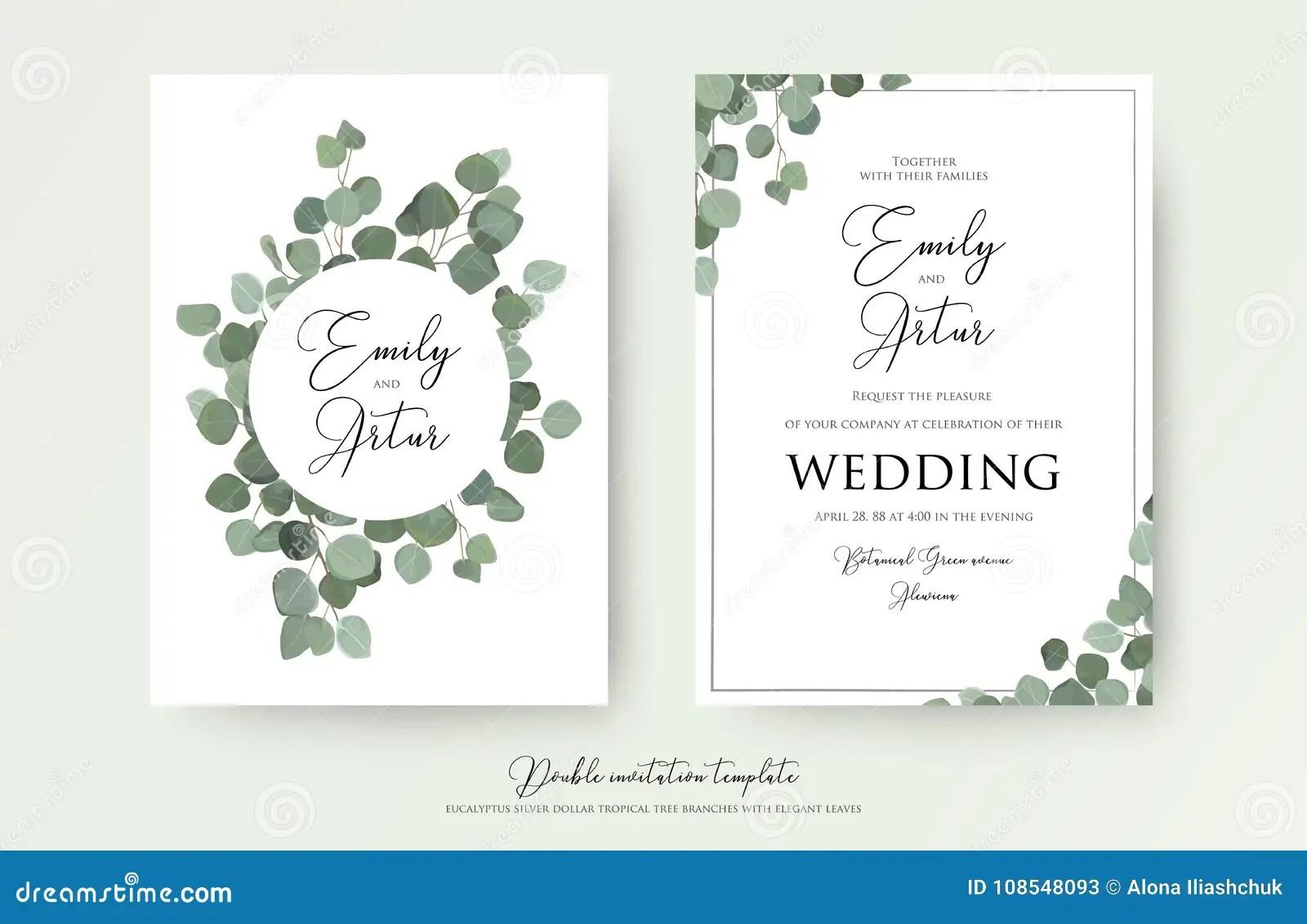 Wedding Floral Watercolor Style Double Invite Invitation