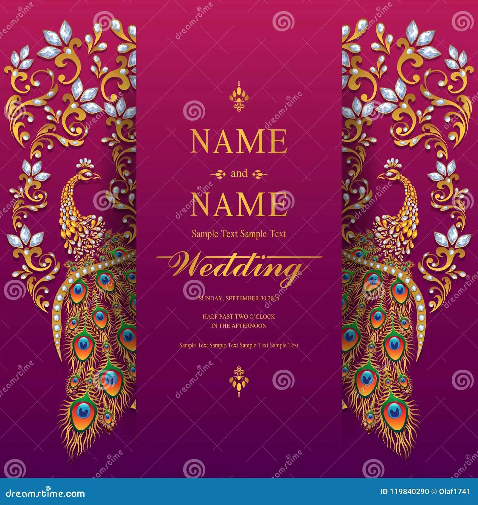 https www dreamstime com wedding invitation card templates indian gold patterned crystals paper color background image119840290