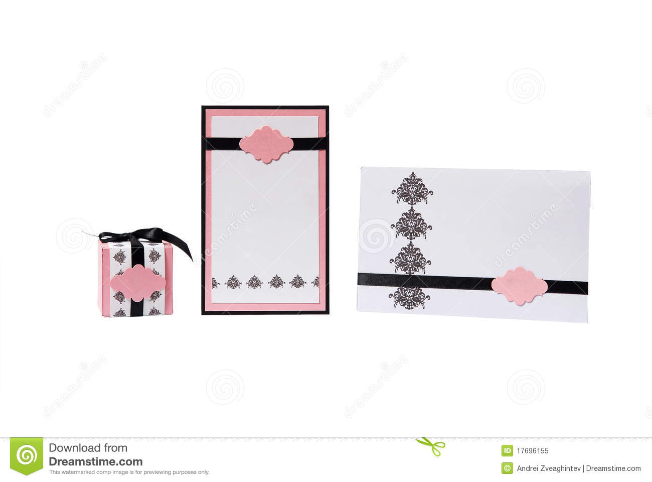 Wedding Invitation And Gift Box Royalty Free Stock Photo