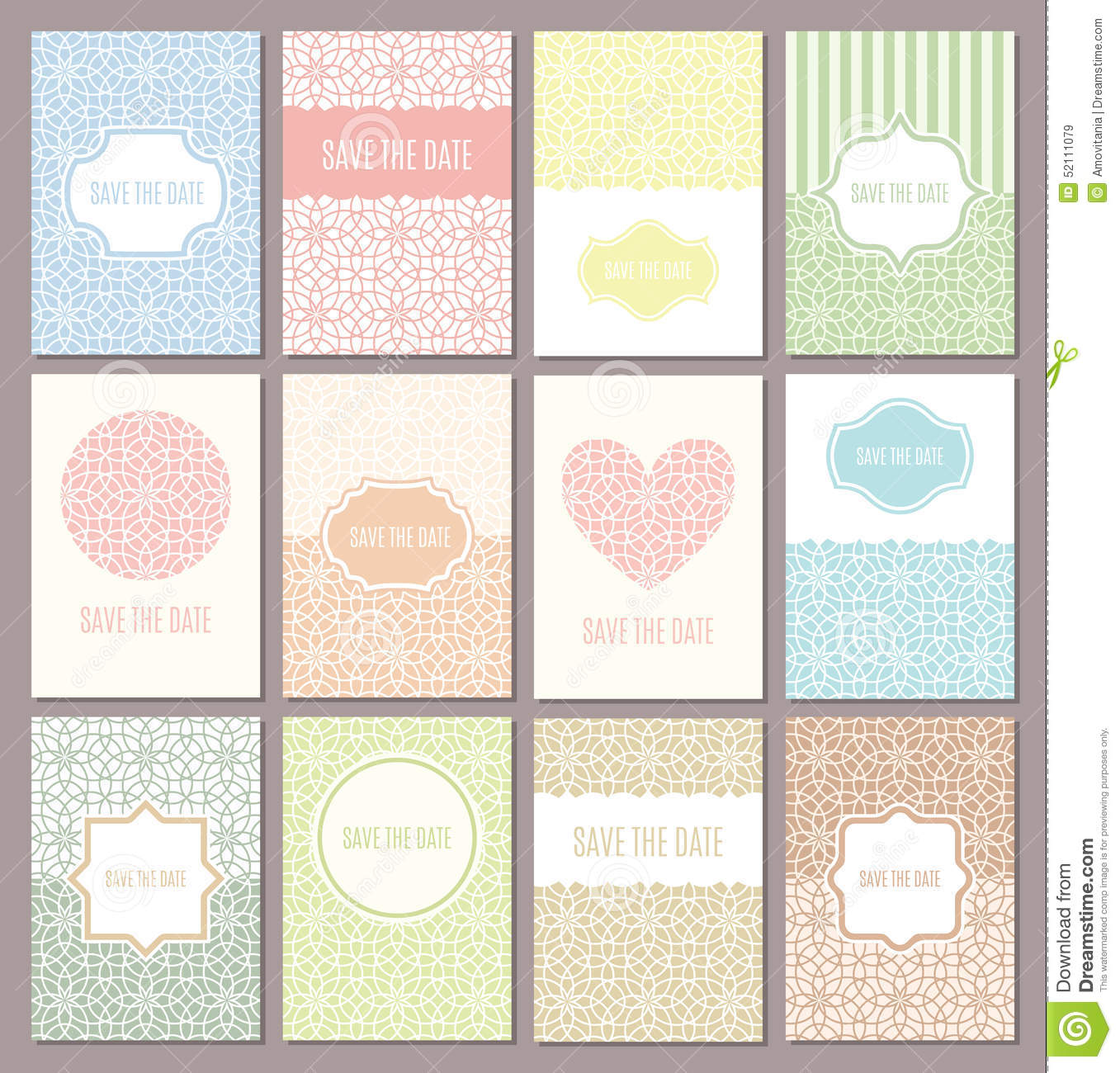 Save Date Cards Vector