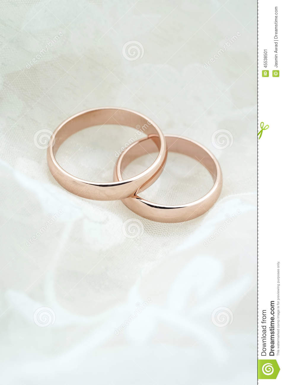 Wedding Invite With Rose Gold Rings Stock Image Image