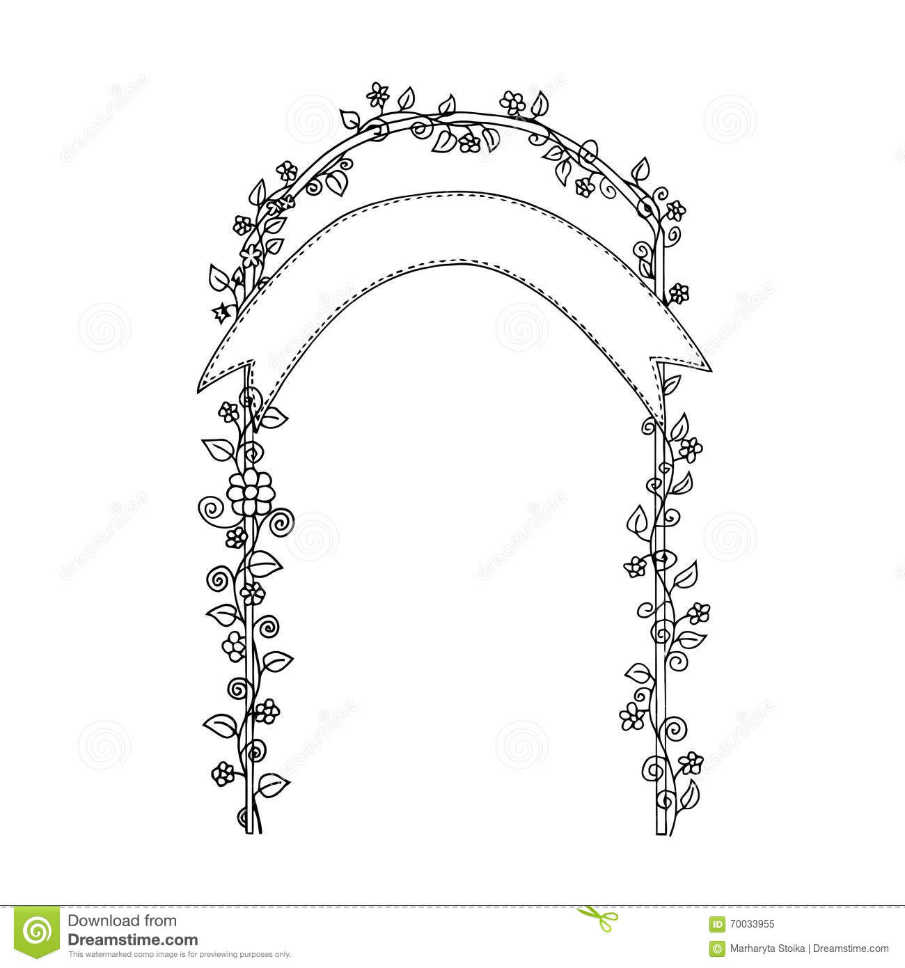 Wedding Zendudl Wedding Arch Wedding Card Stock Vector