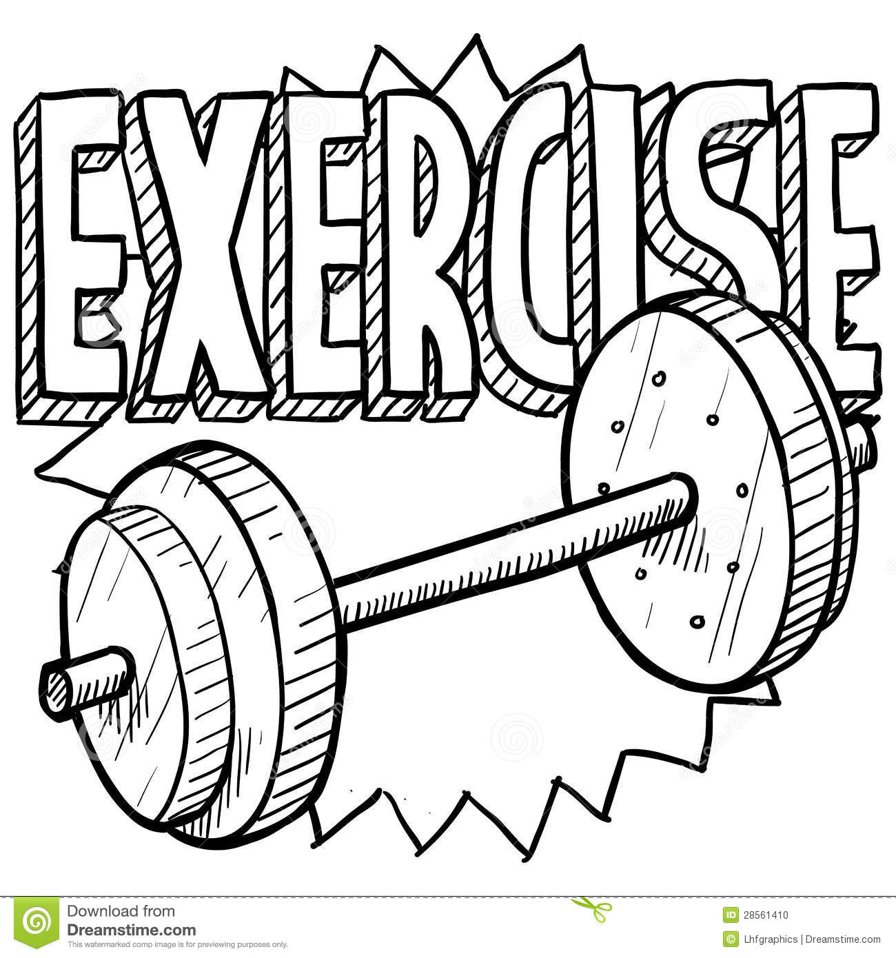 Weightlifting Sketch Stock Vector Illustration Of Muscles