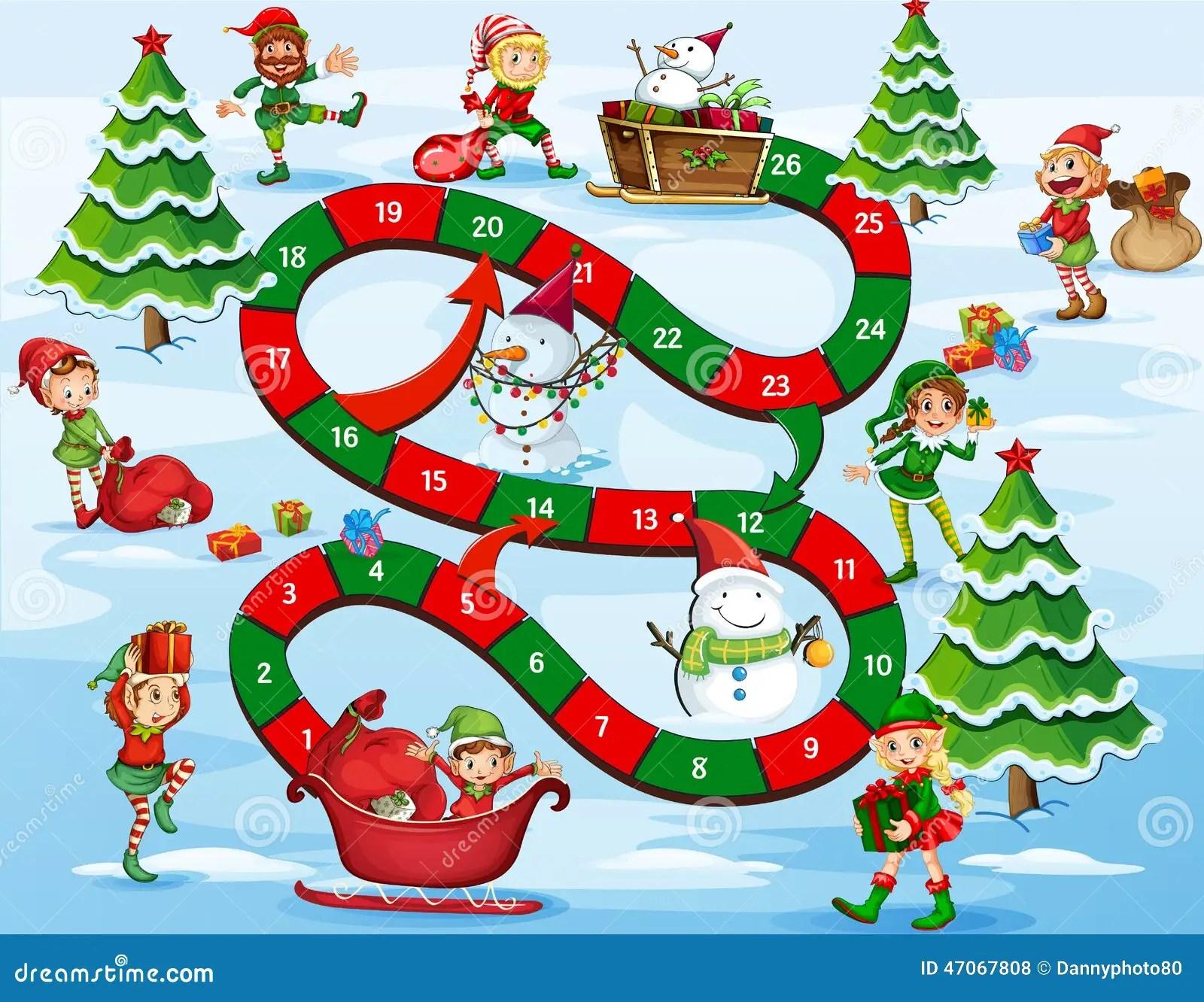 Weihnachtsbrettspiel Vektor Abbildung Illustration Von
