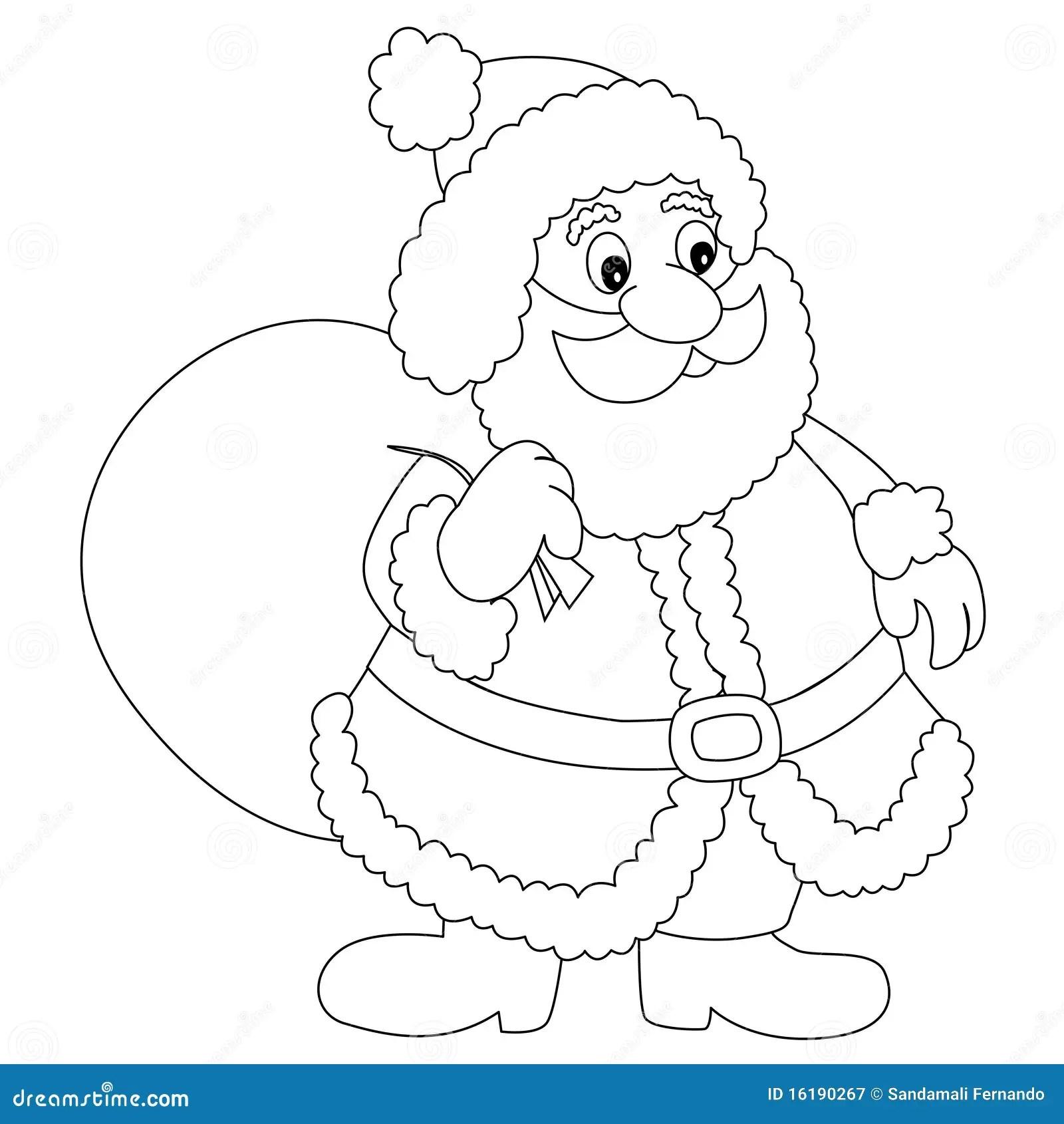 Colouring Outine Of Santas Sleigh
