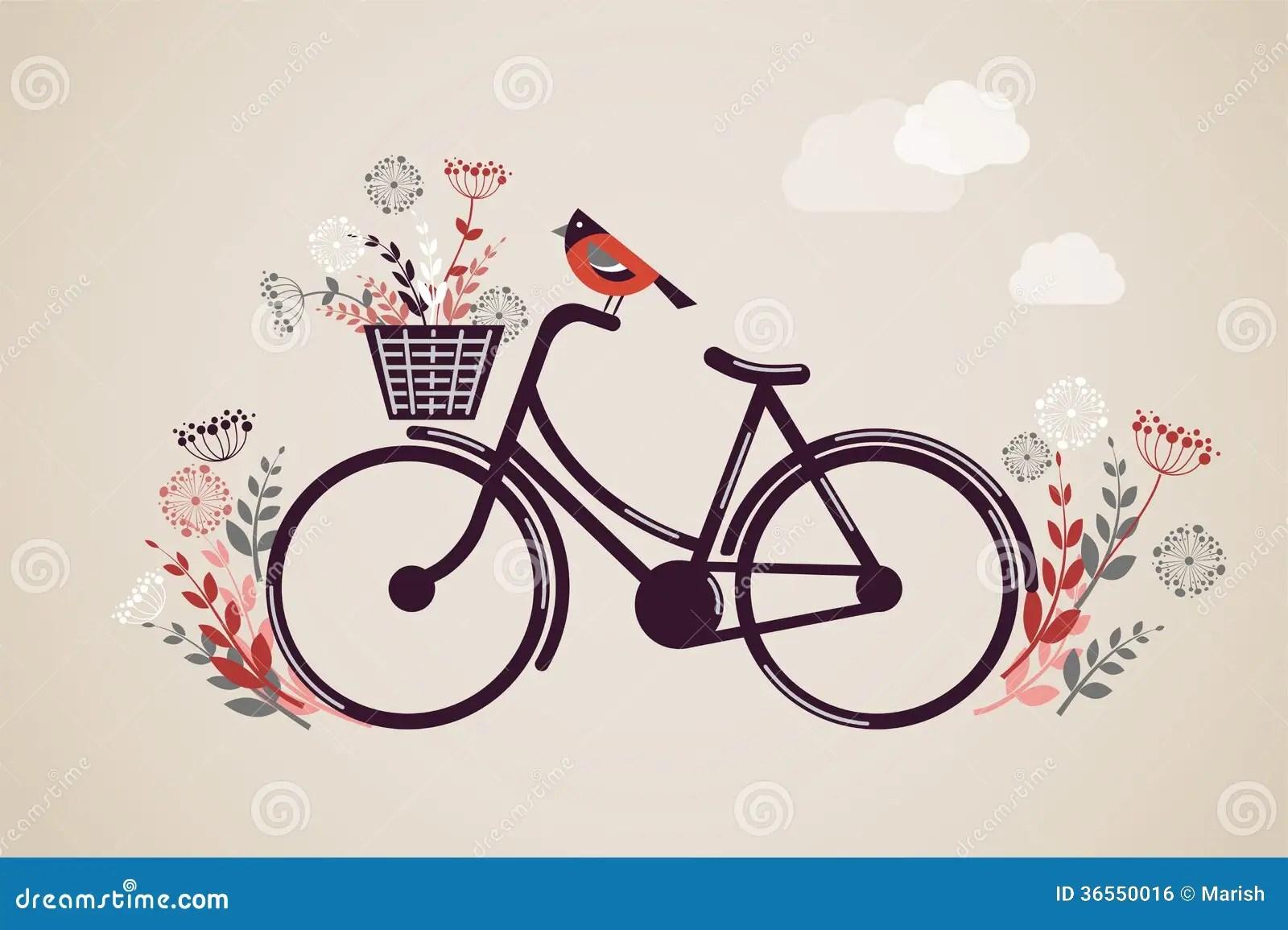 Weinlese Retro Fahrrad Hintergrund Vektor Abbildung