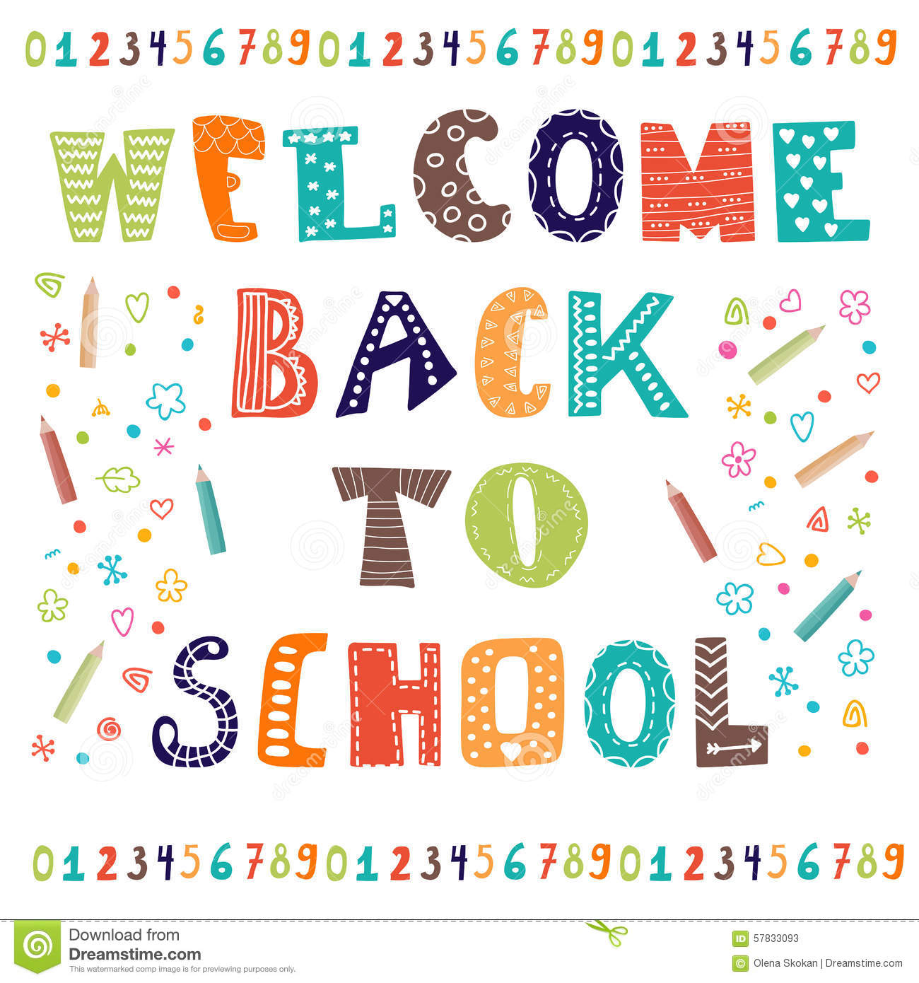 Welcome Back To School Greeting Card Back To School