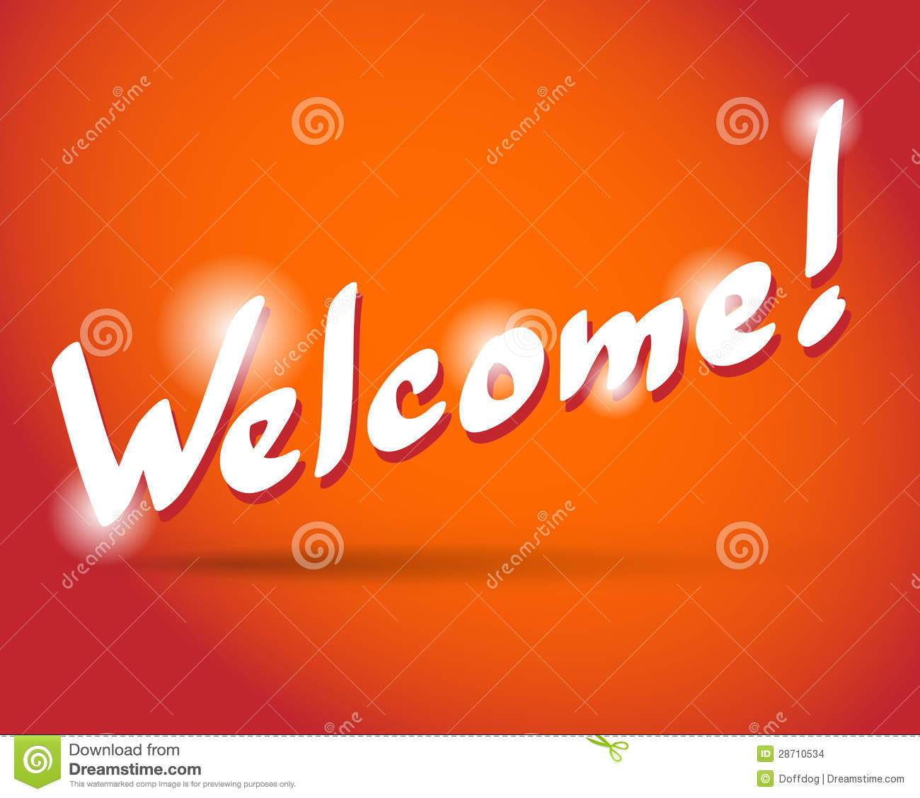 WELCOME Hand Lettering Stock Vector Illustration Of