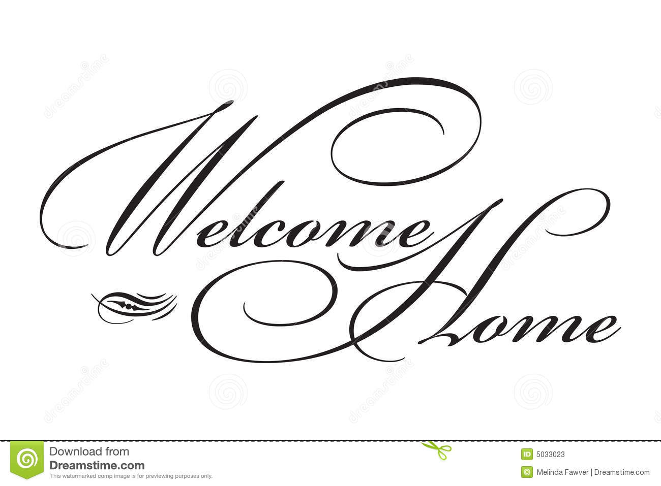 Welcome Home Type Stock Vector Illustration Of Welcome
