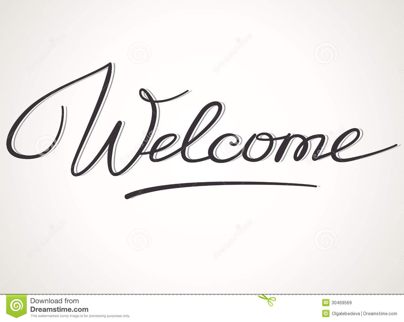Welcome Lettering Stock Vector Illustration Of Font