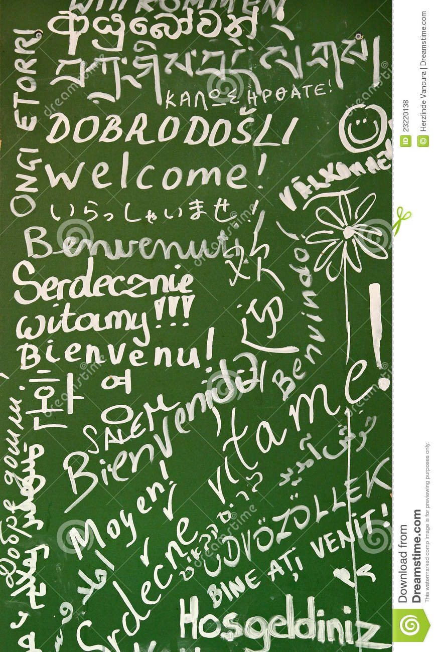 Welcome In Many Languages Stock Photo Image Of Hello