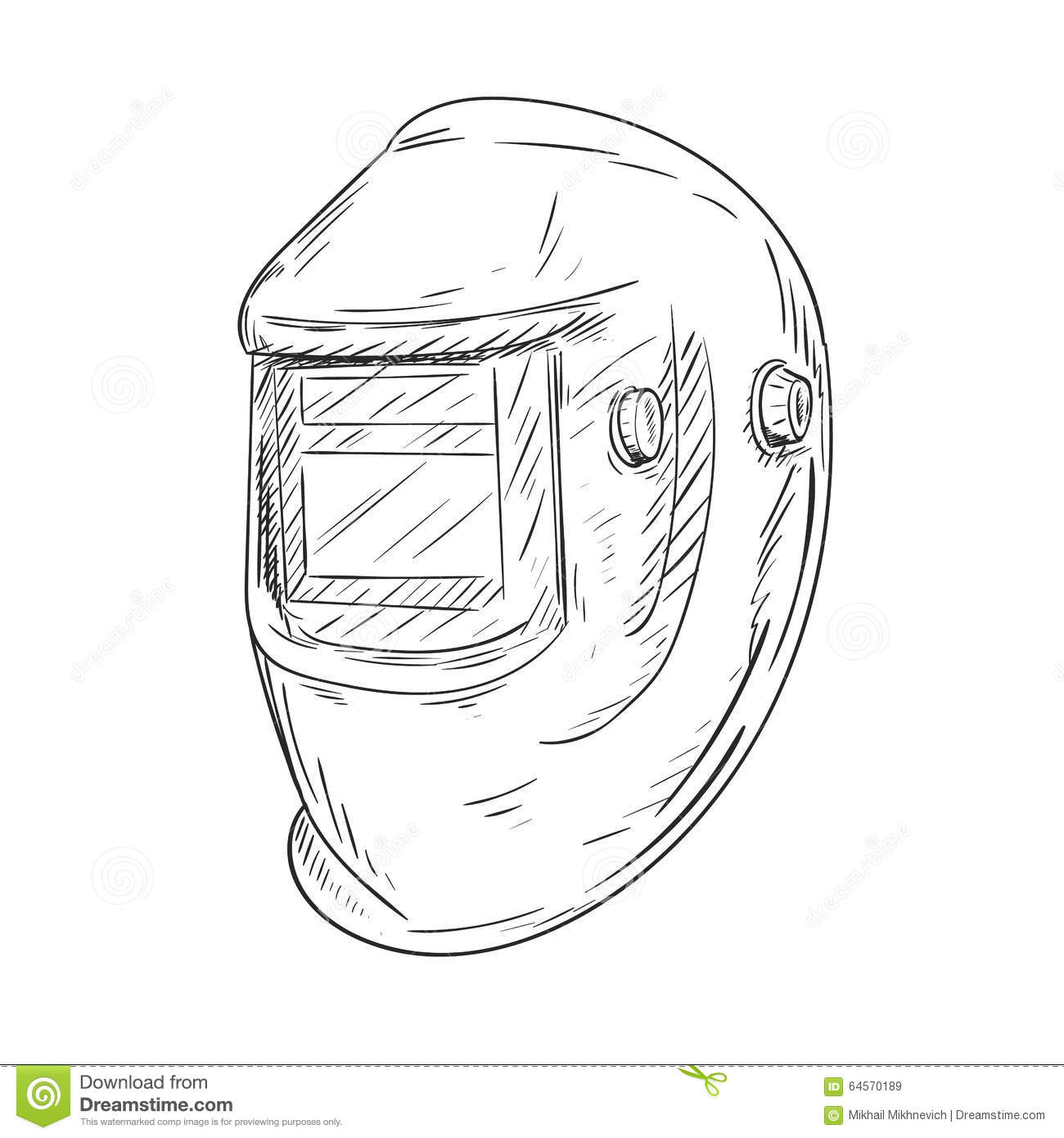 Welding Helmet Stock Vector
