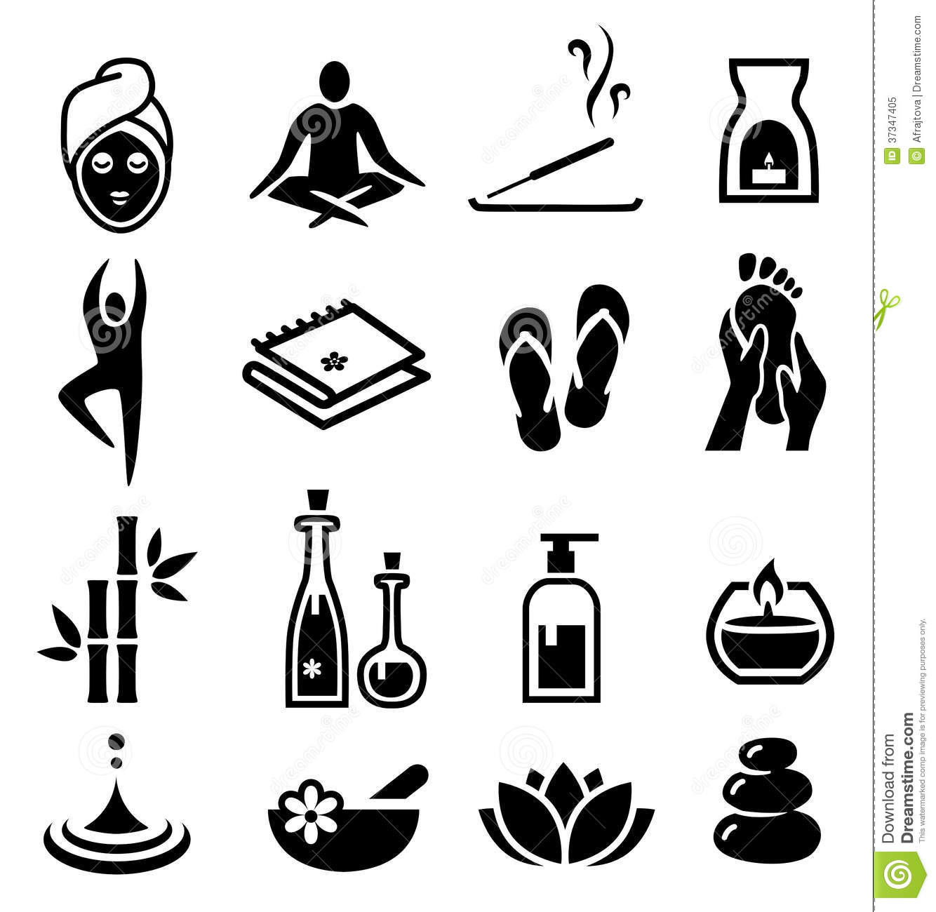 Wellness And Relax Icons Stock Vector Illustration Of