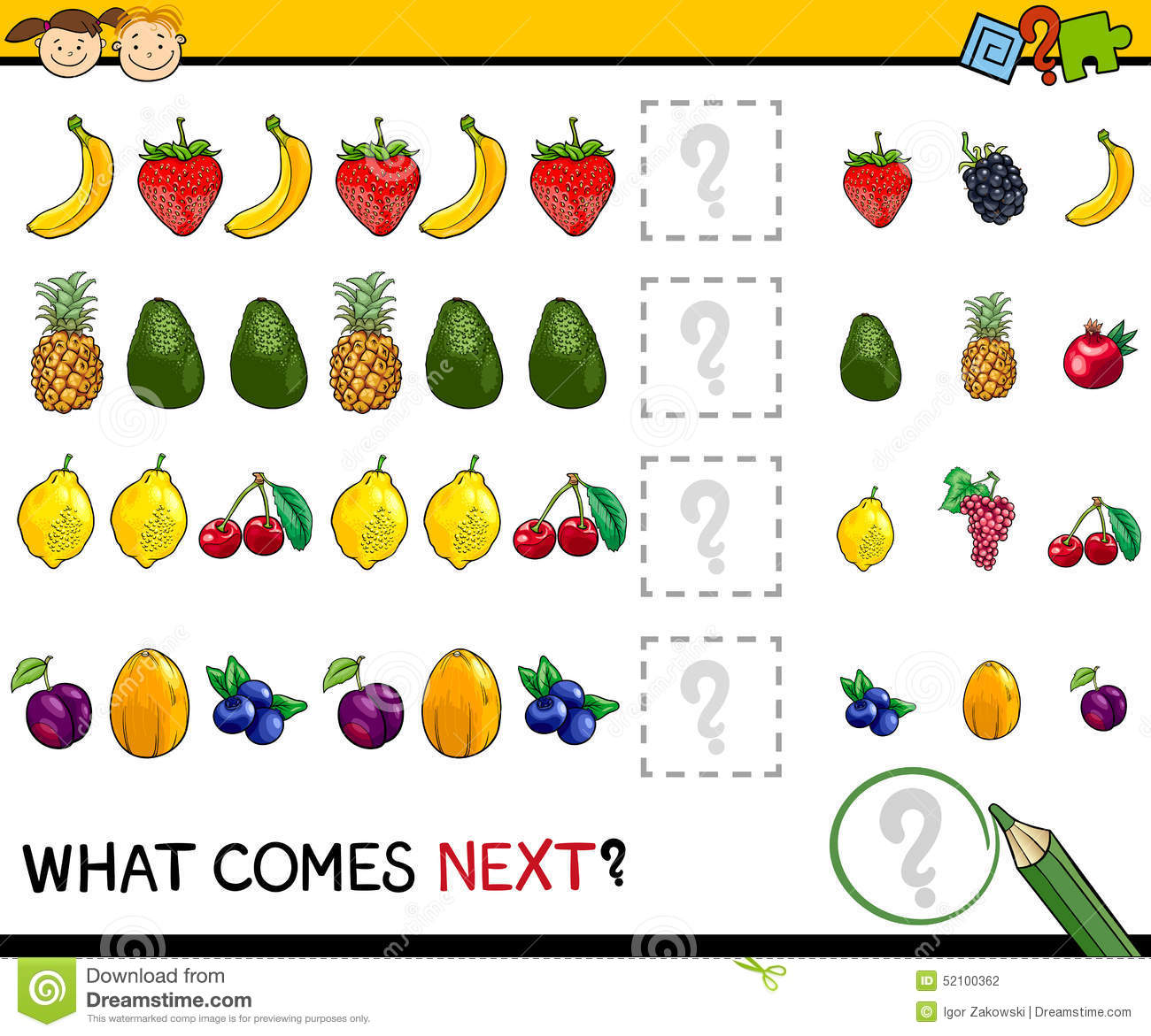 What Comes Next Game Cartoon Stock Vector