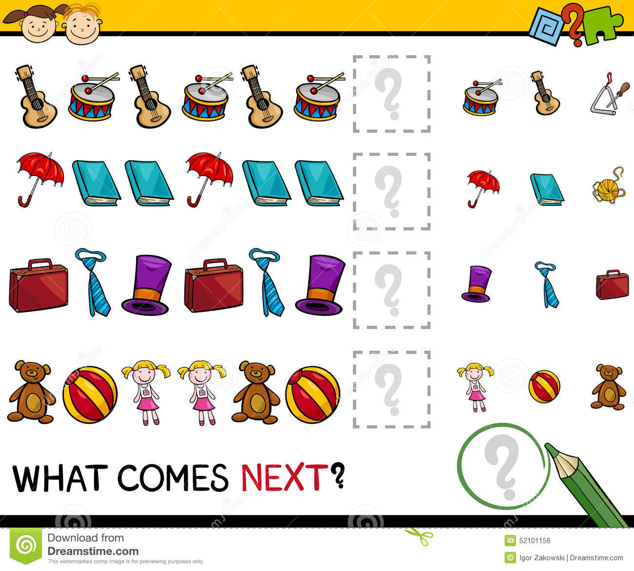 What Comes Next Worksheet Preschool What Best Free