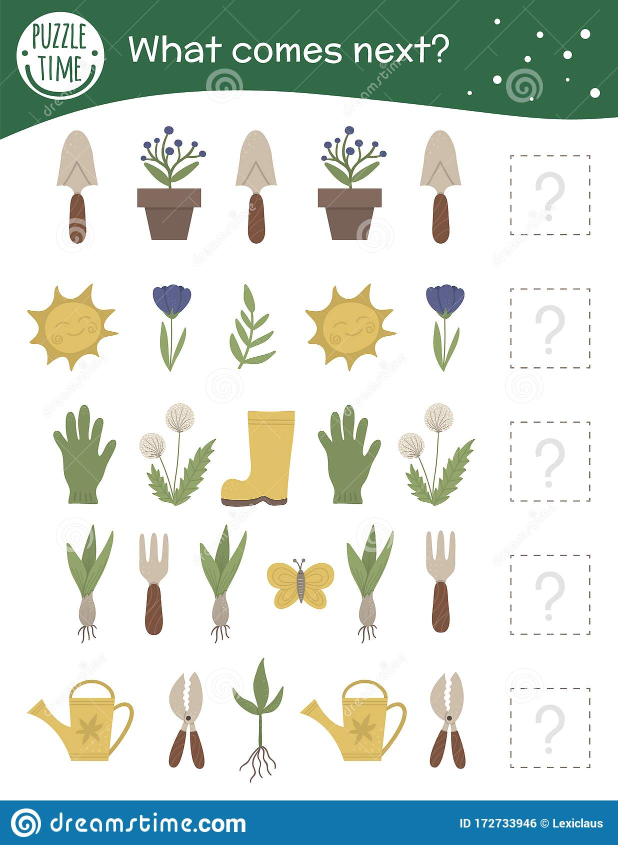 What Comes Next Garden Matching Activity For Preschool