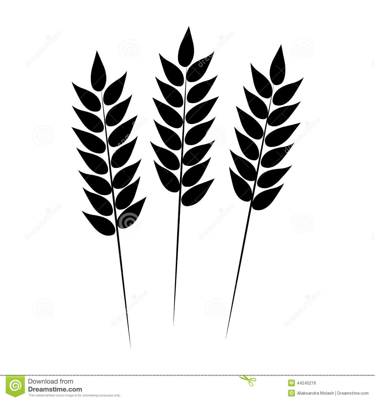 Wheat Icon Vector Illustration Stock Vector