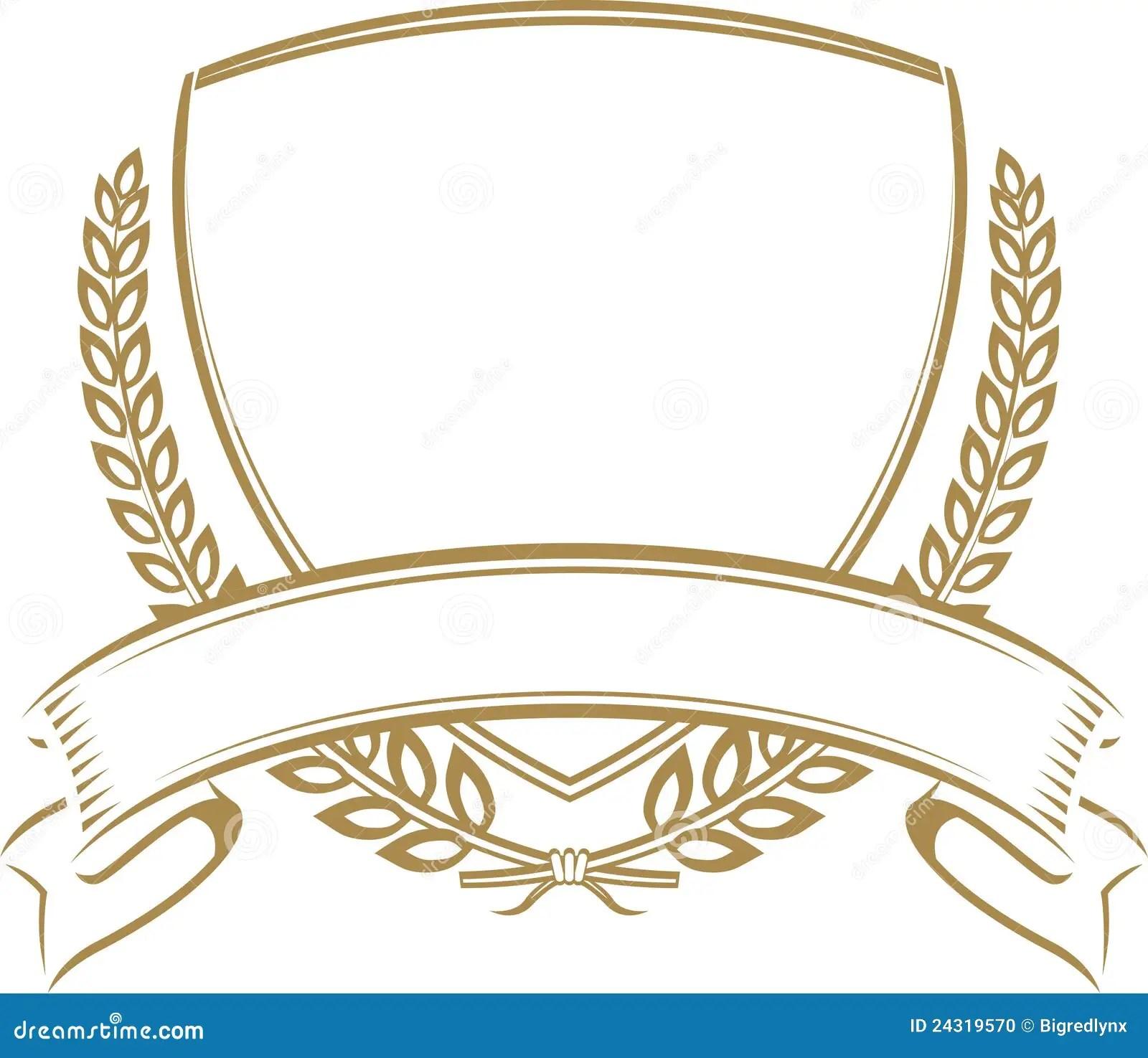 Wheat Shield Stock Vector Illustration Of Ribbon