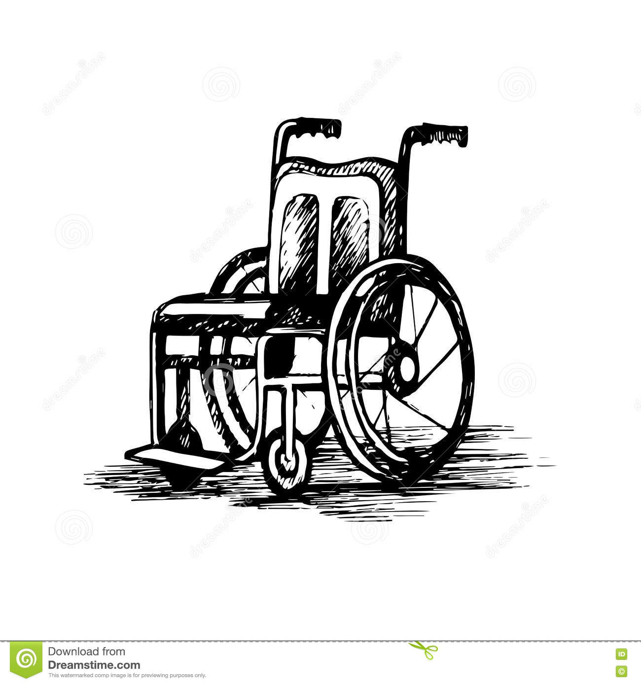 Wheelchair Isolated On White Background Royalty Free