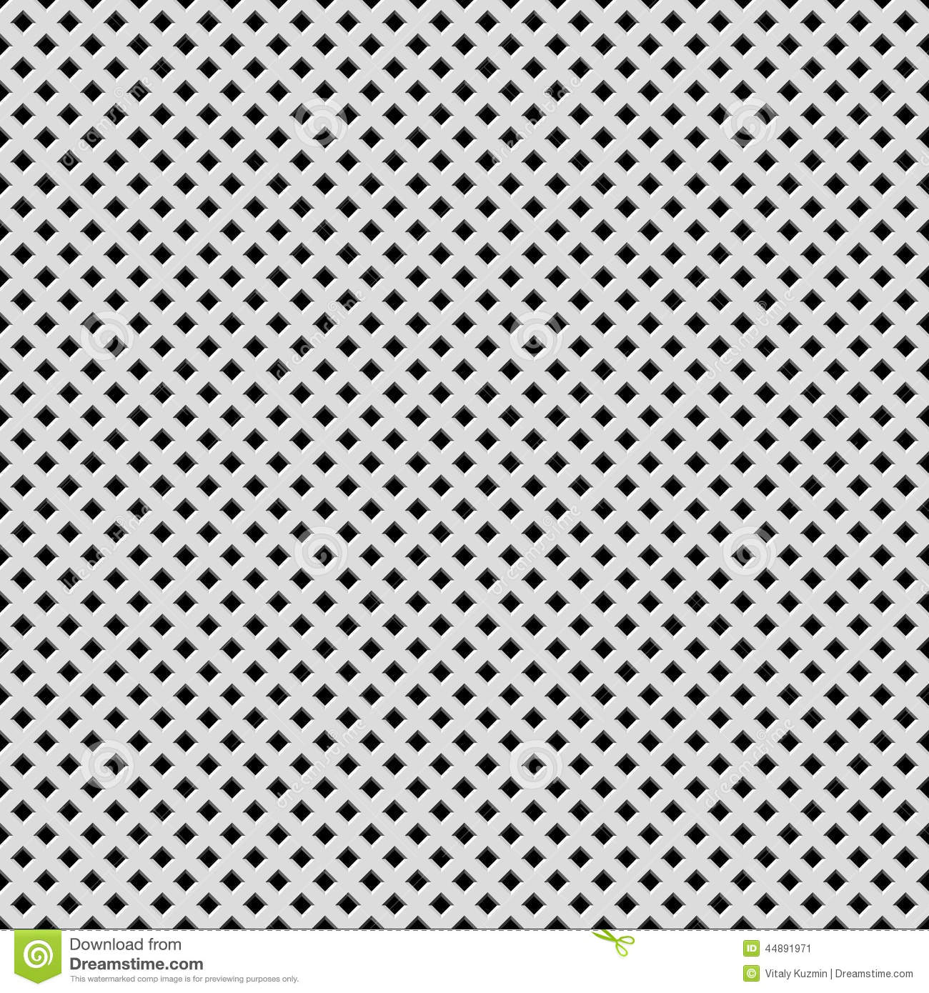 White Background With Perforated Pattern Stock Vector