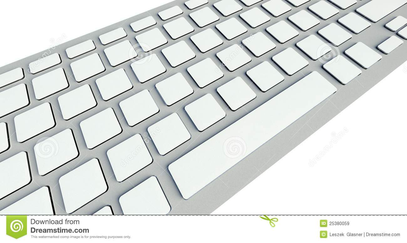 White Blank Buttons On Computer Keyboard Royalty Free