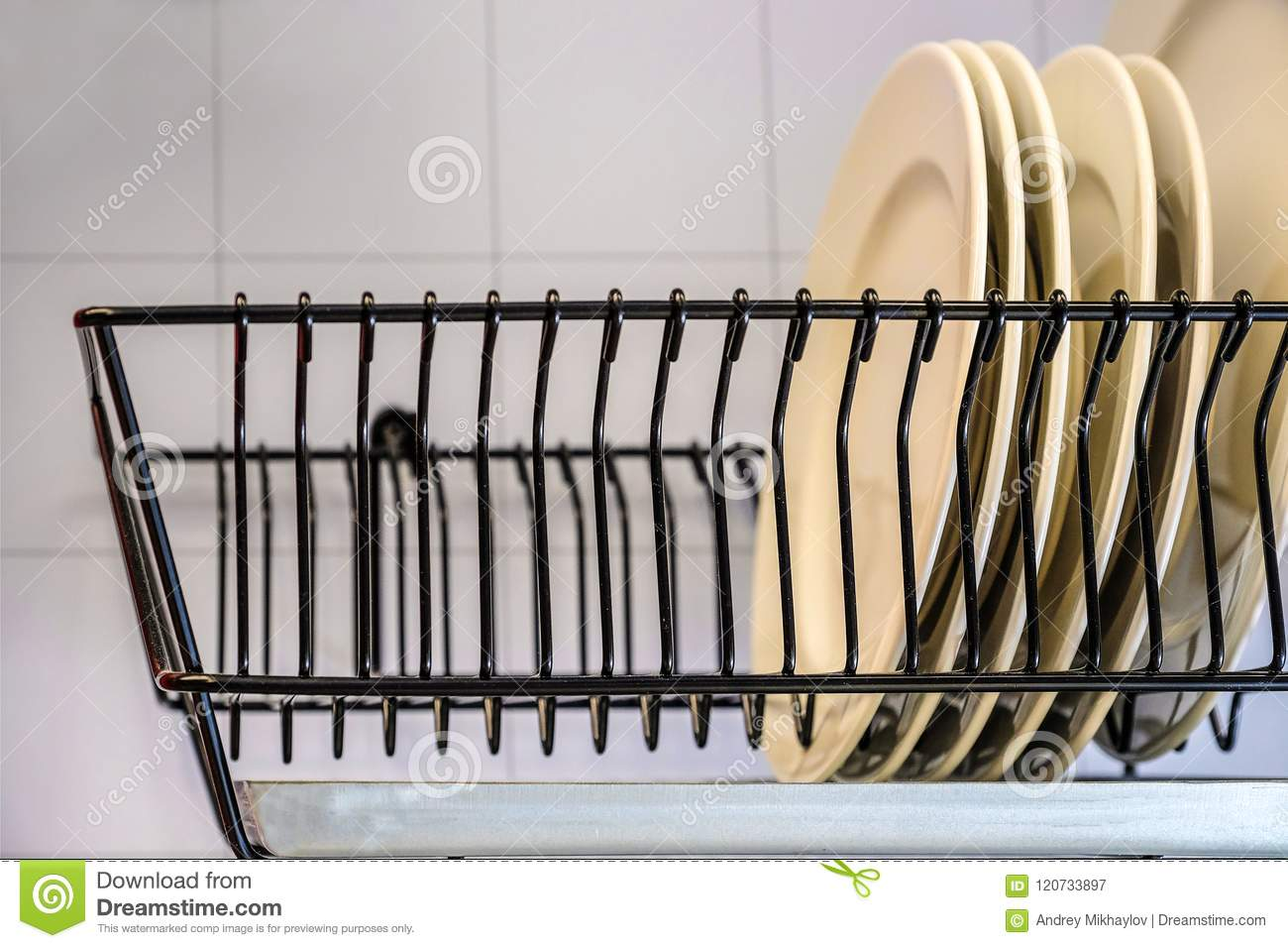 https www dreamstime com white dishes drying metal dish rack drying rack dishes white dishes drying metal dish rack dish drying rack dryer image120733897