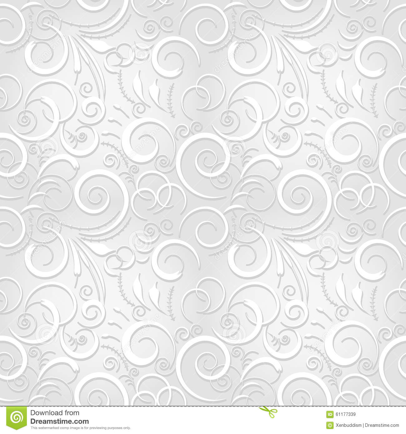 White Festive Seamless Pattern Stock Illustration